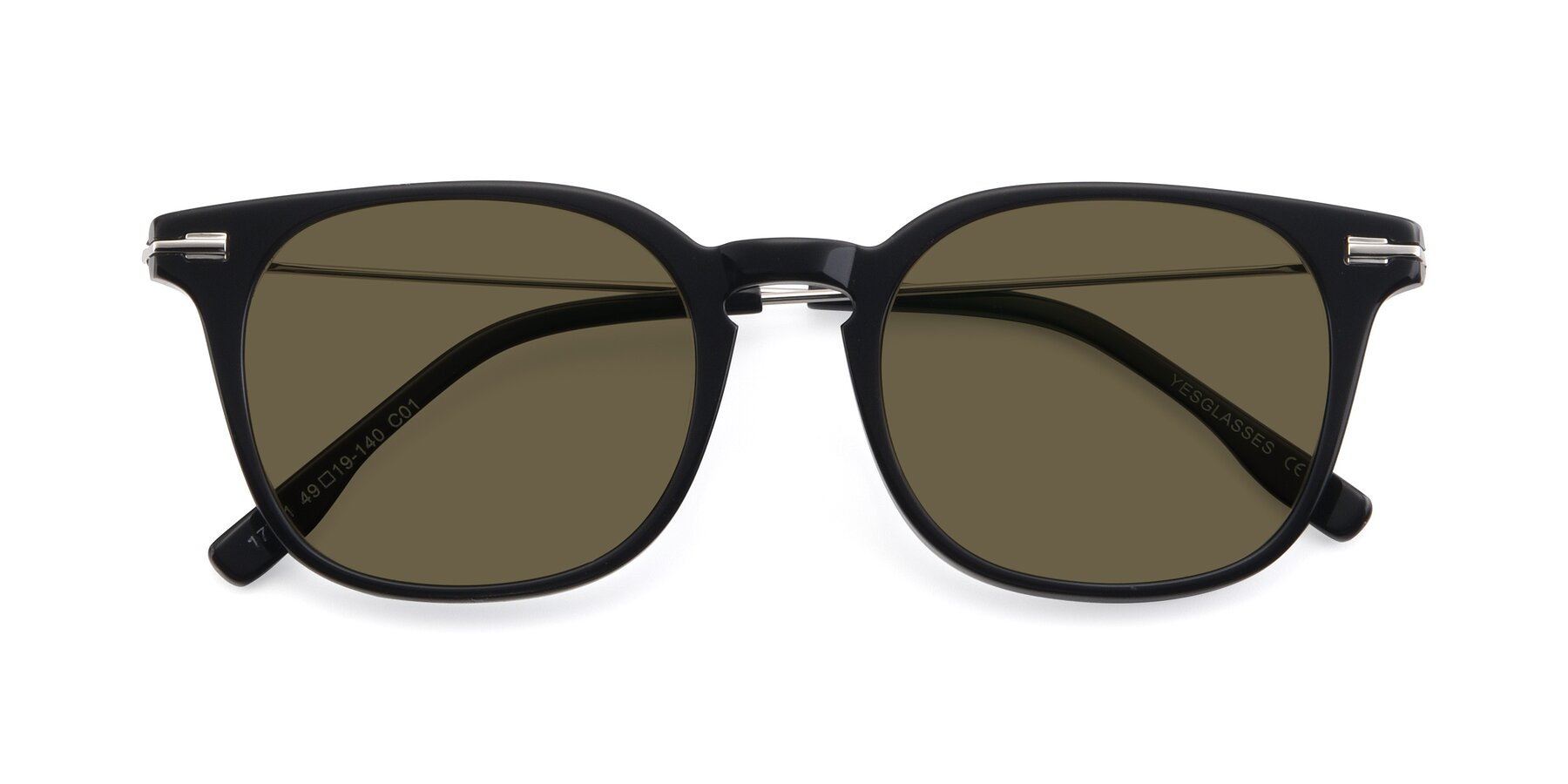 Folded Front of 17711 in Black with Brown Polarized Lenses
