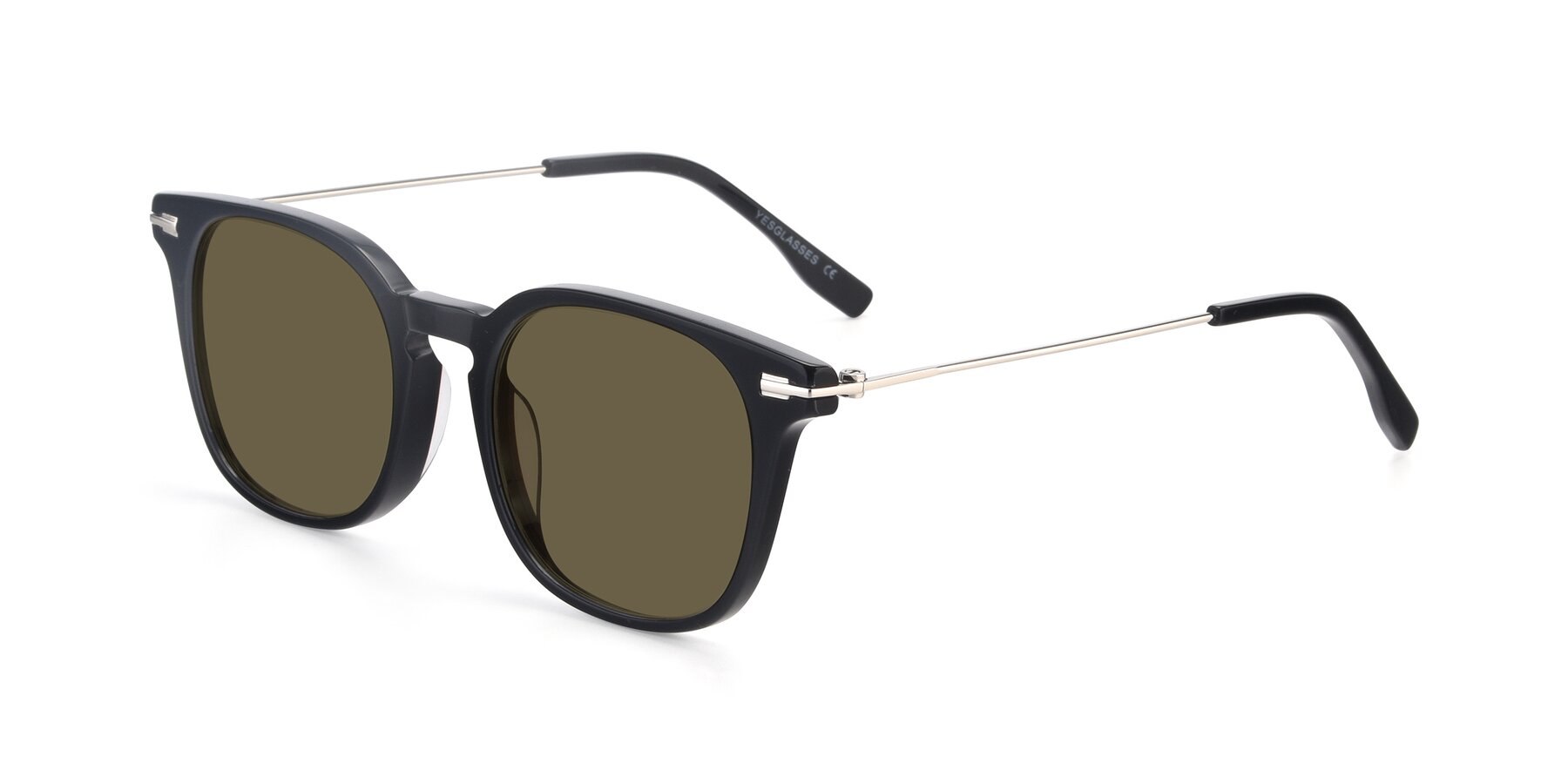 Angle of 17711 in Black with Brown Polarized Lenses