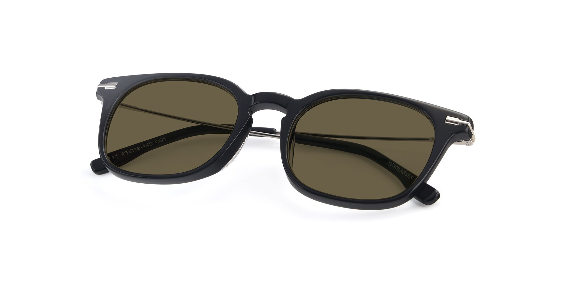 View of 17711 in Black with Brown Polarized Lenses