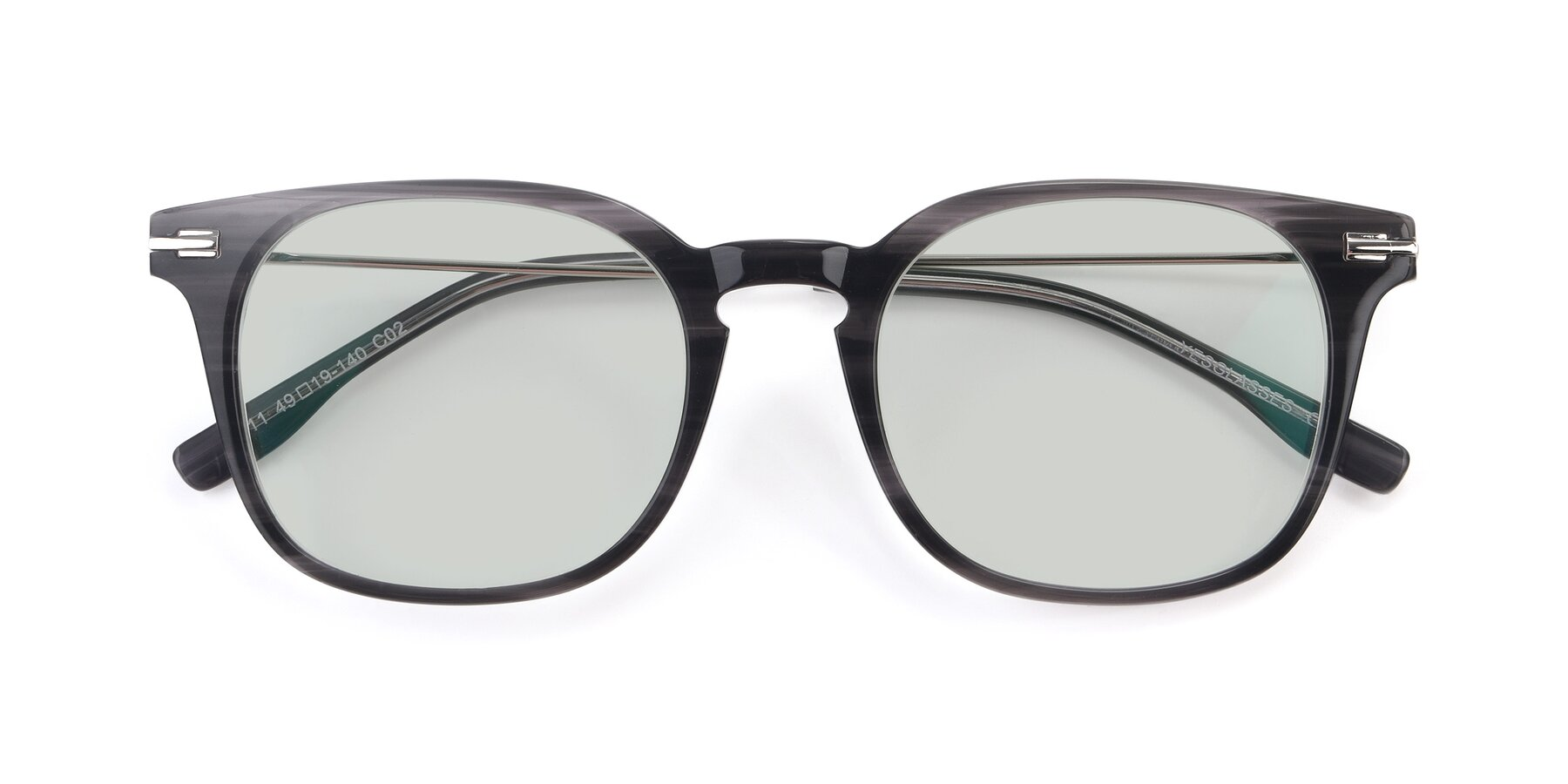 Folded Front of 17711 in Grey with Light Green Tinted Lenses