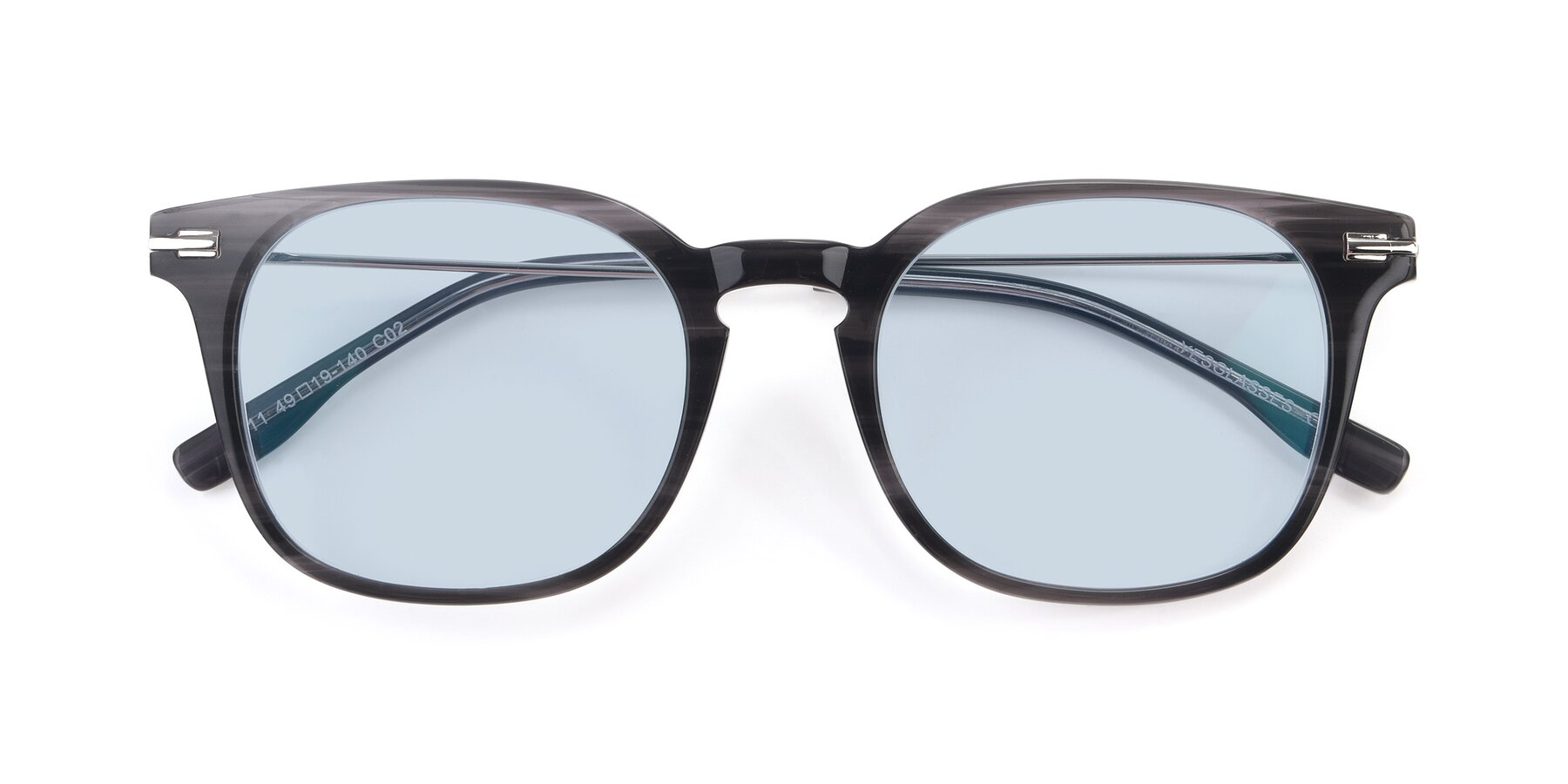 Folded Front of 17711 in Grey with Light Blue Tinted Lenses