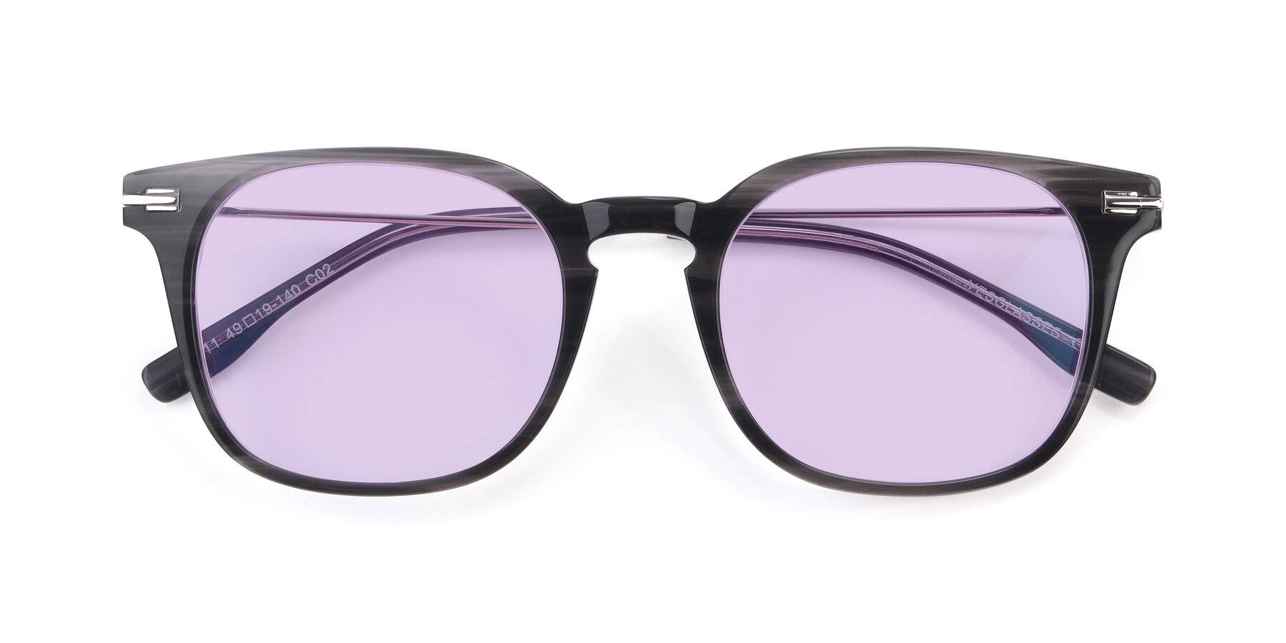Folded Front of 17711 in Grey with Light Purple Tinted Lenses