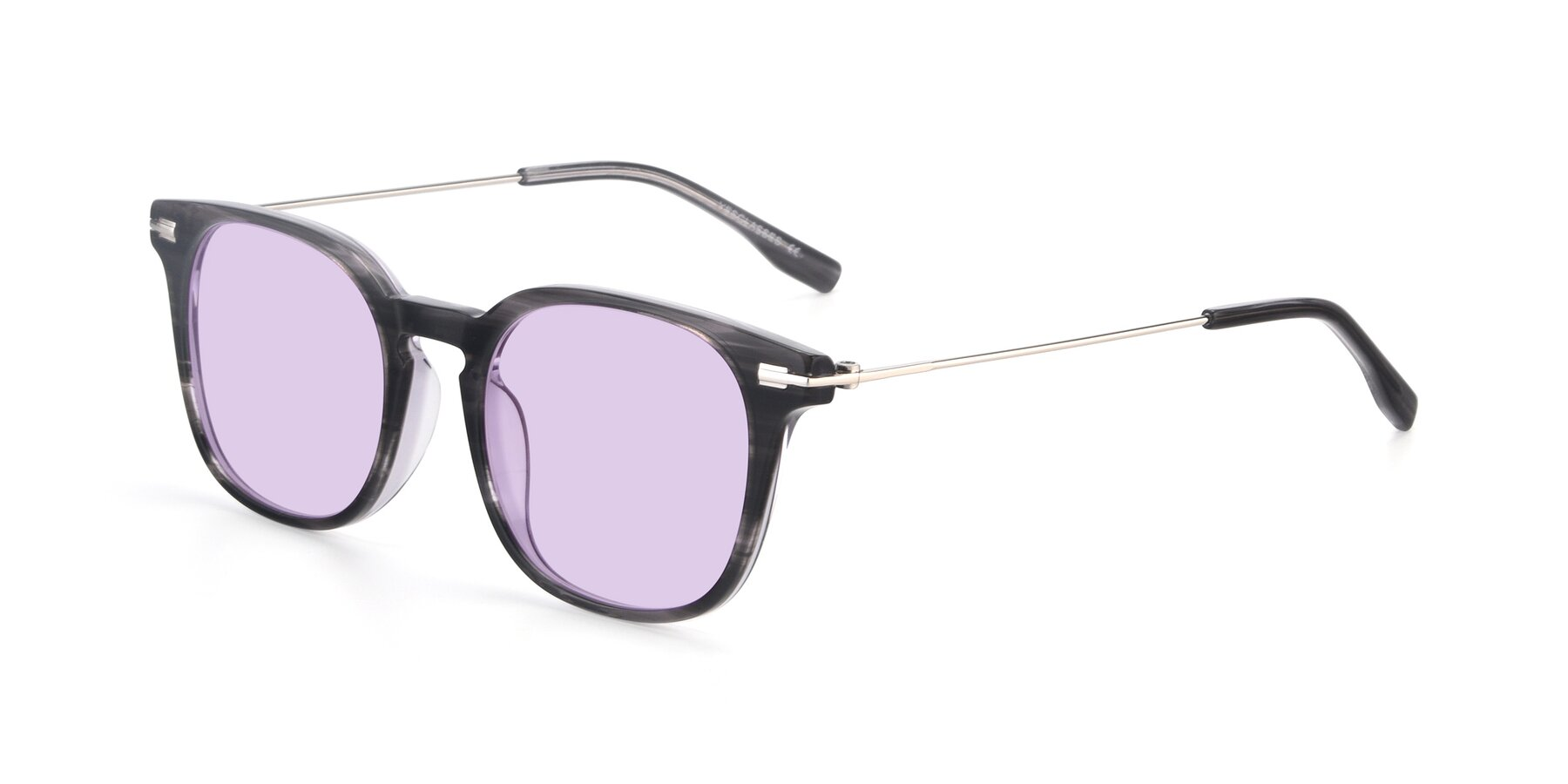 Angle of 17711 in Grey with Light Purple Tinted Lenses