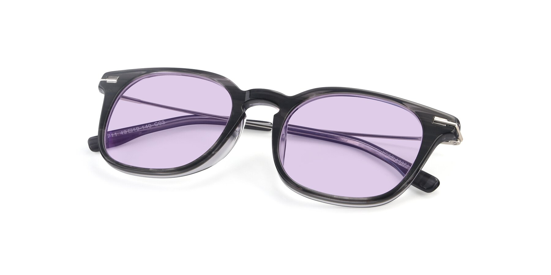 View of 17711 in Grey with Light Purple Tinted Lenses