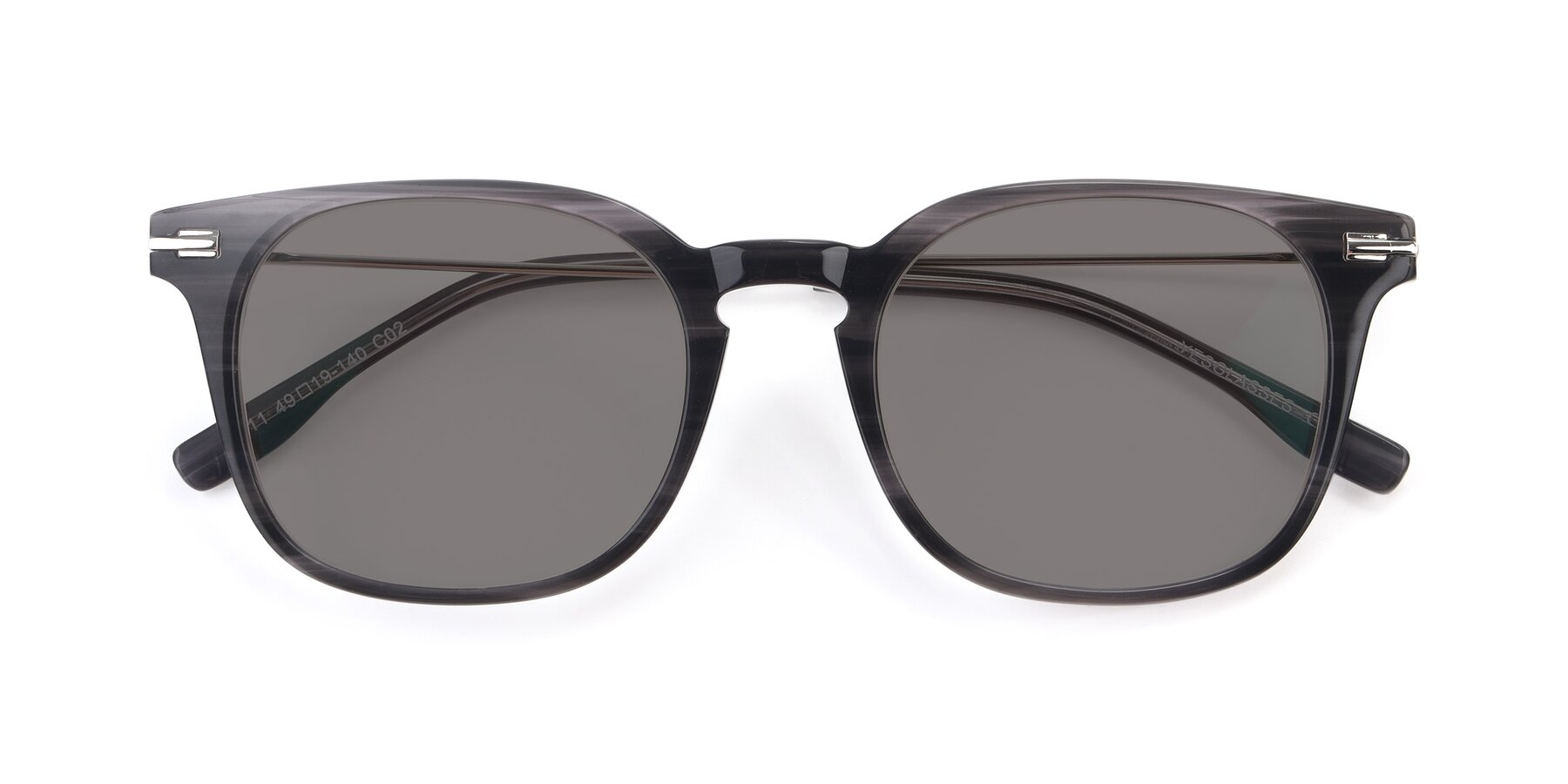 Folded Front of 17711 in Grey with Medium Gray Tinted Lenses