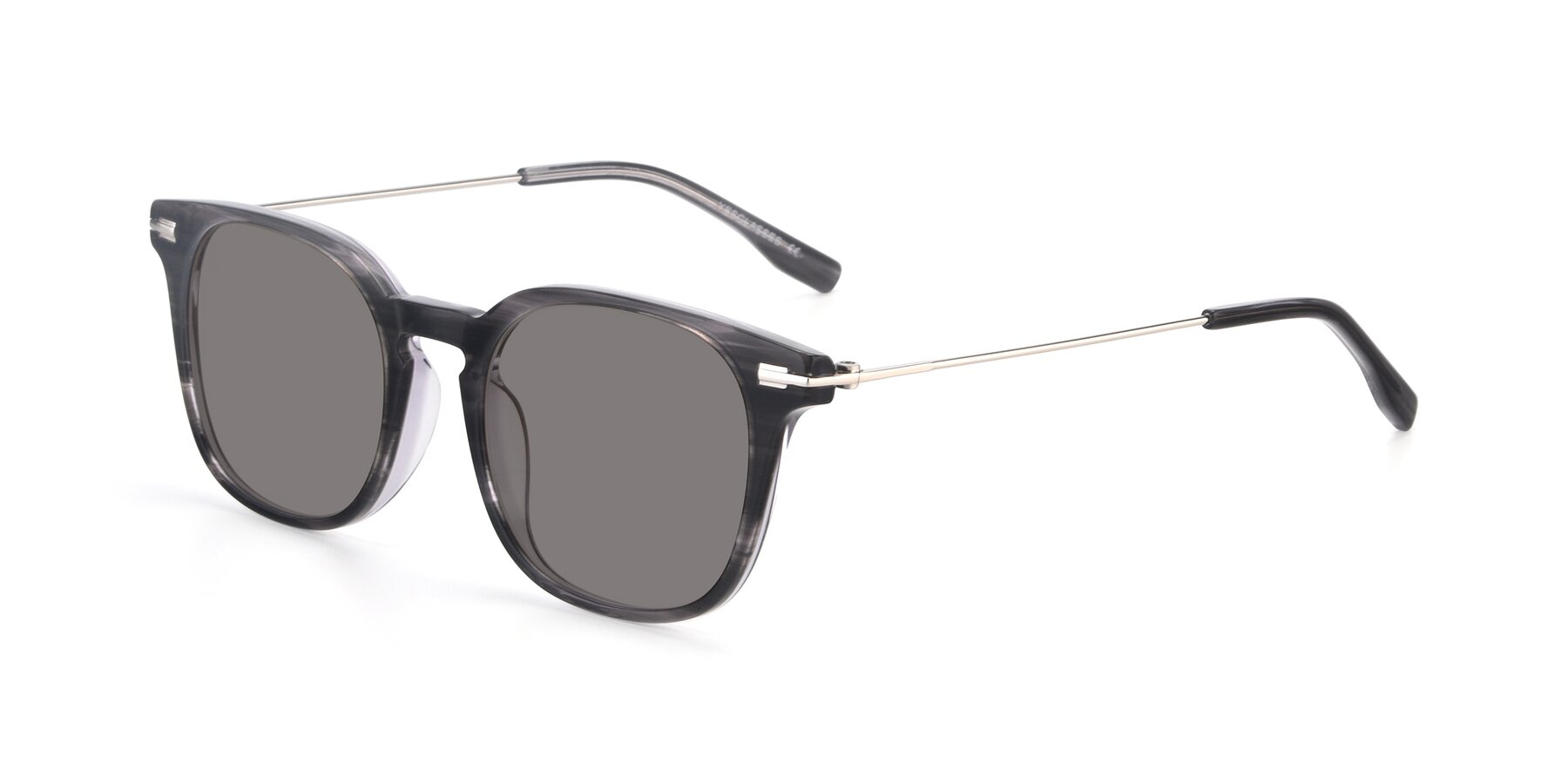 Angle of 17711 in Grey with Medium Gray Tinted Lenses