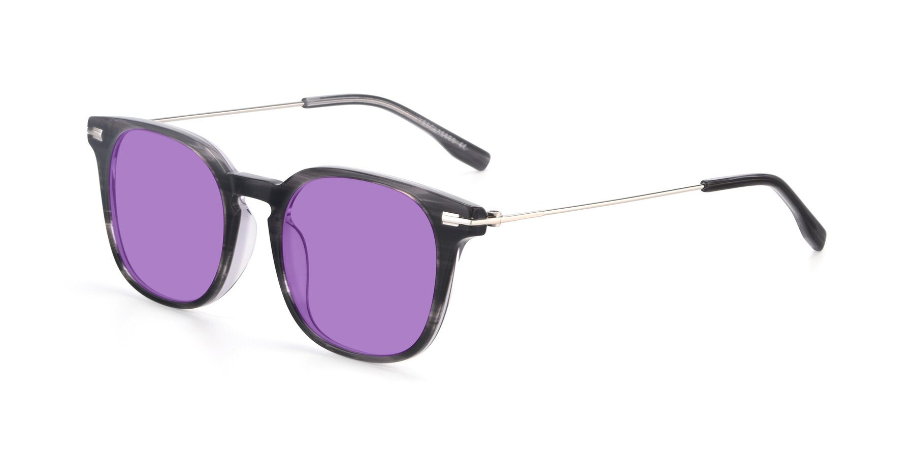 Angle of 17711 in Grey with Medium Purple Tinted Lenses
