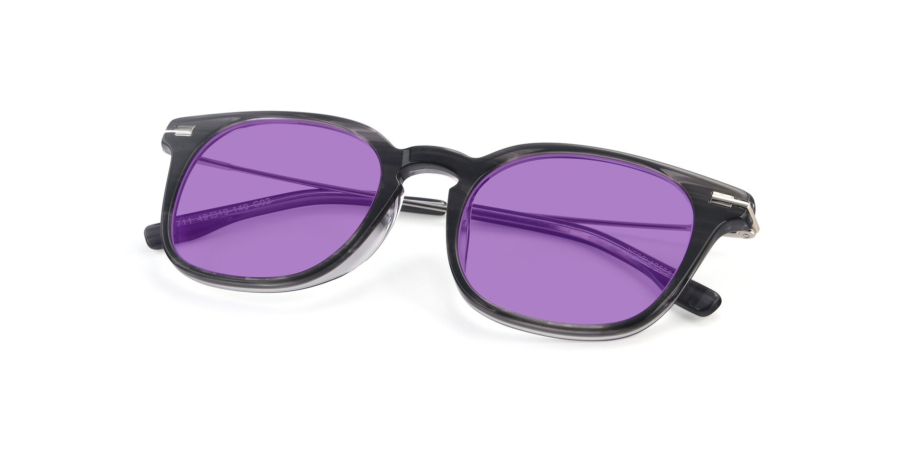 View of 17711 in Grey with Medium Purple Tinted Lenses