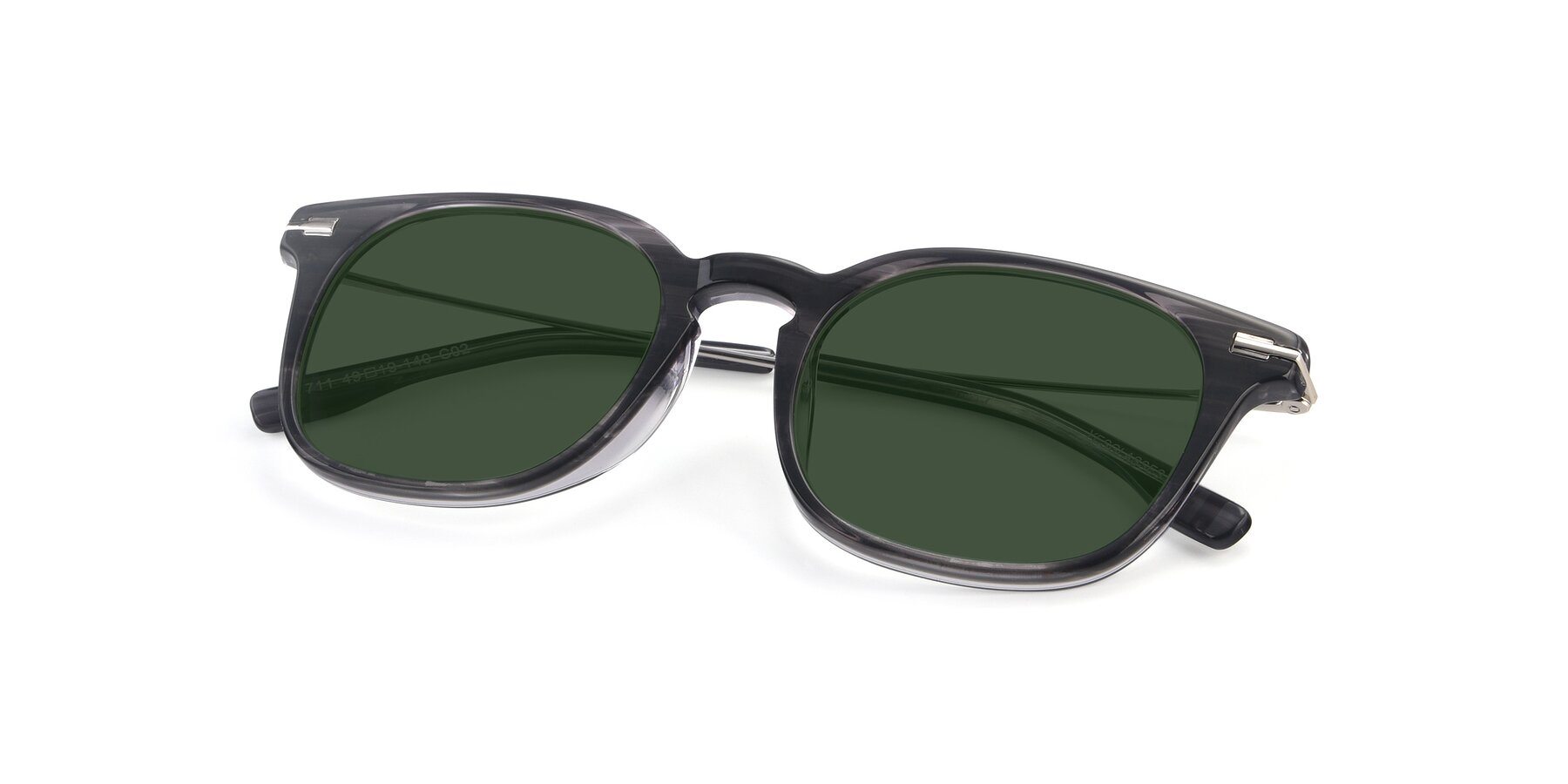 View of 17711 in Grey with Green Tinted Lenses