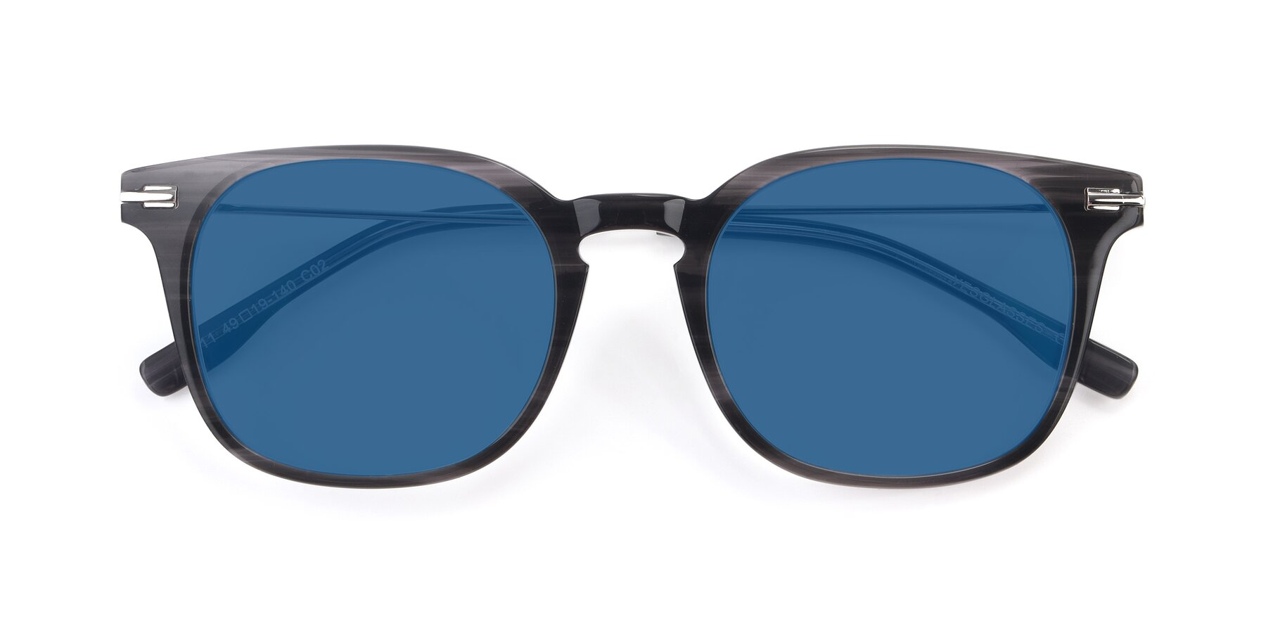 Folded Front of 17711 in Grey with Blue Tinted Lenses