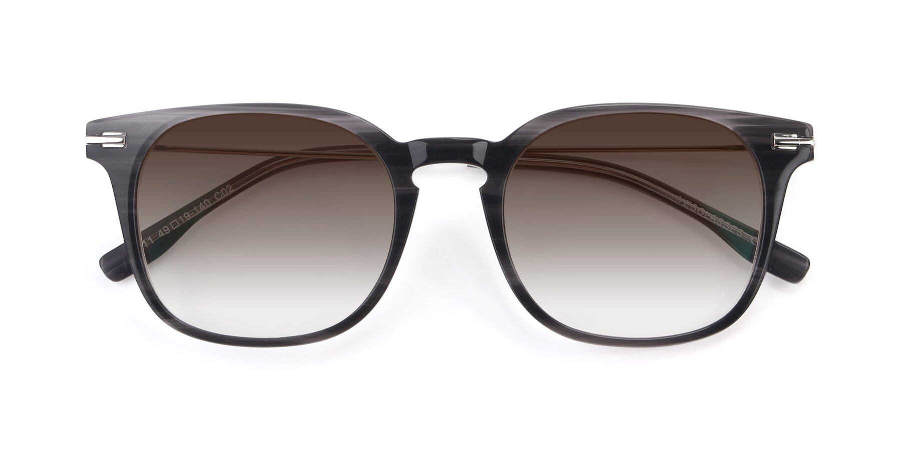 Folded Front of 17711 in Grey with Brown Gradient Lenses