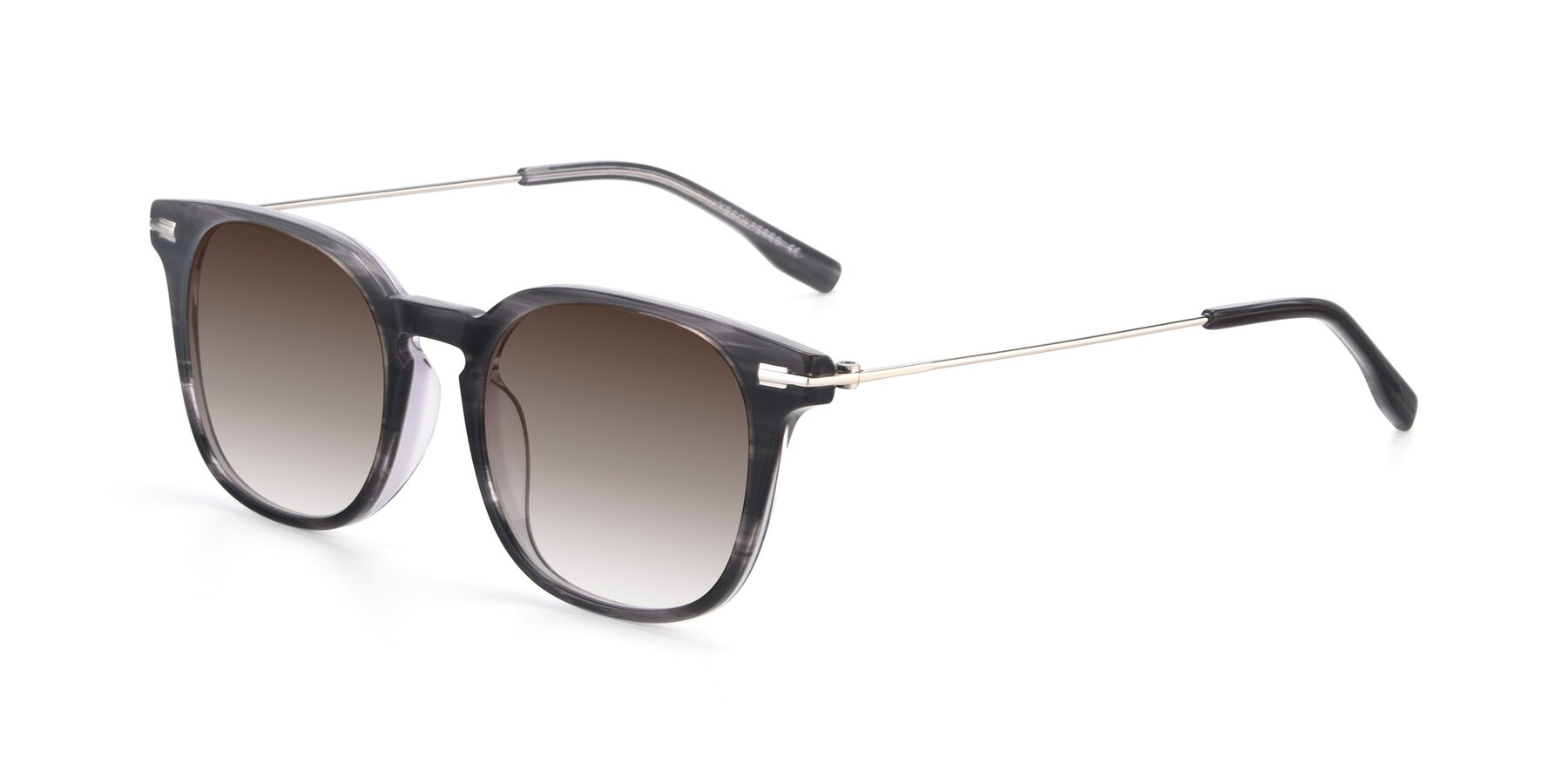 Angle of 17711 in Grey with Brown Gradient Lenses