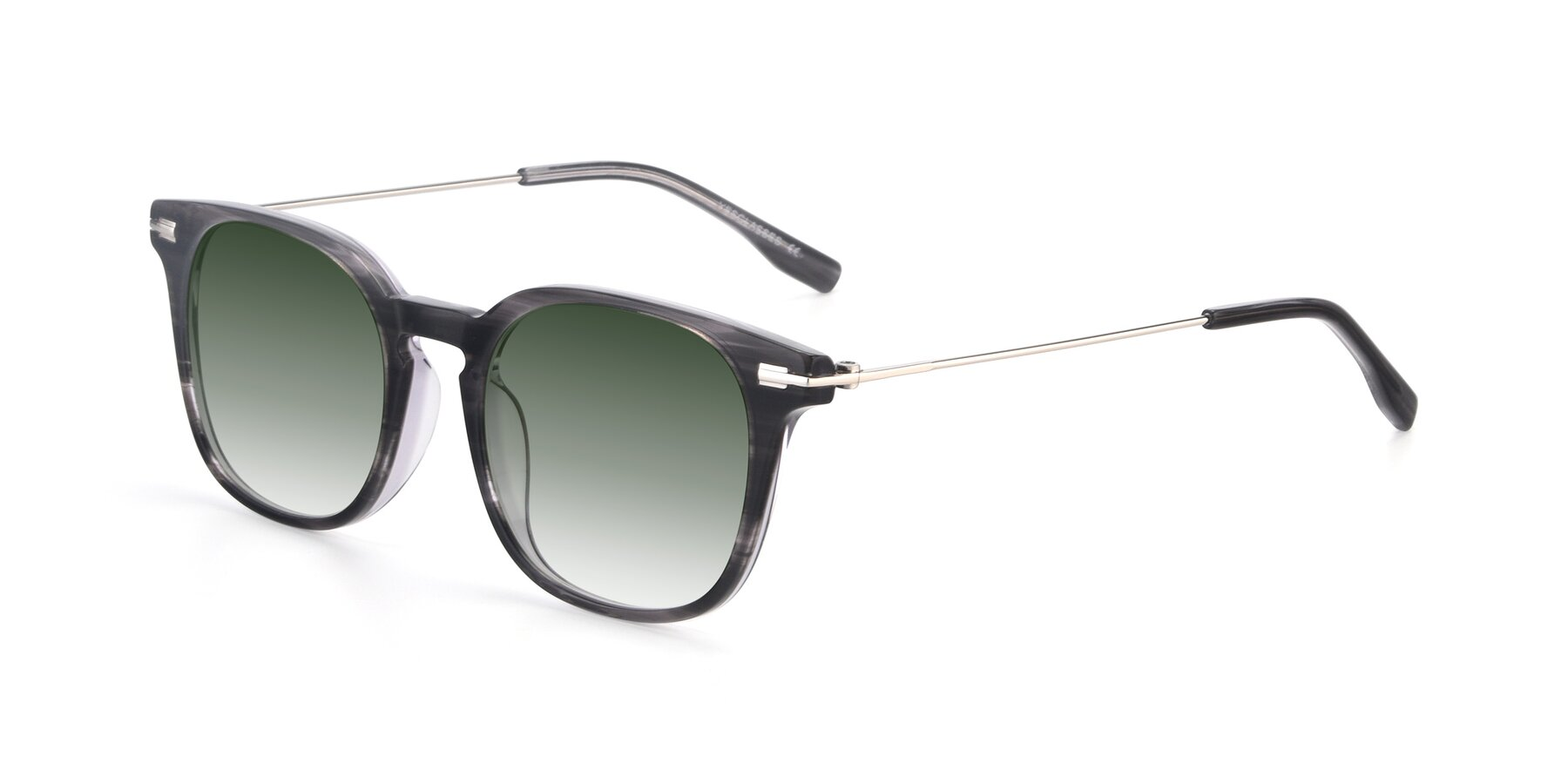 Angle of 17711 in Grey with Green Gradient Lenses