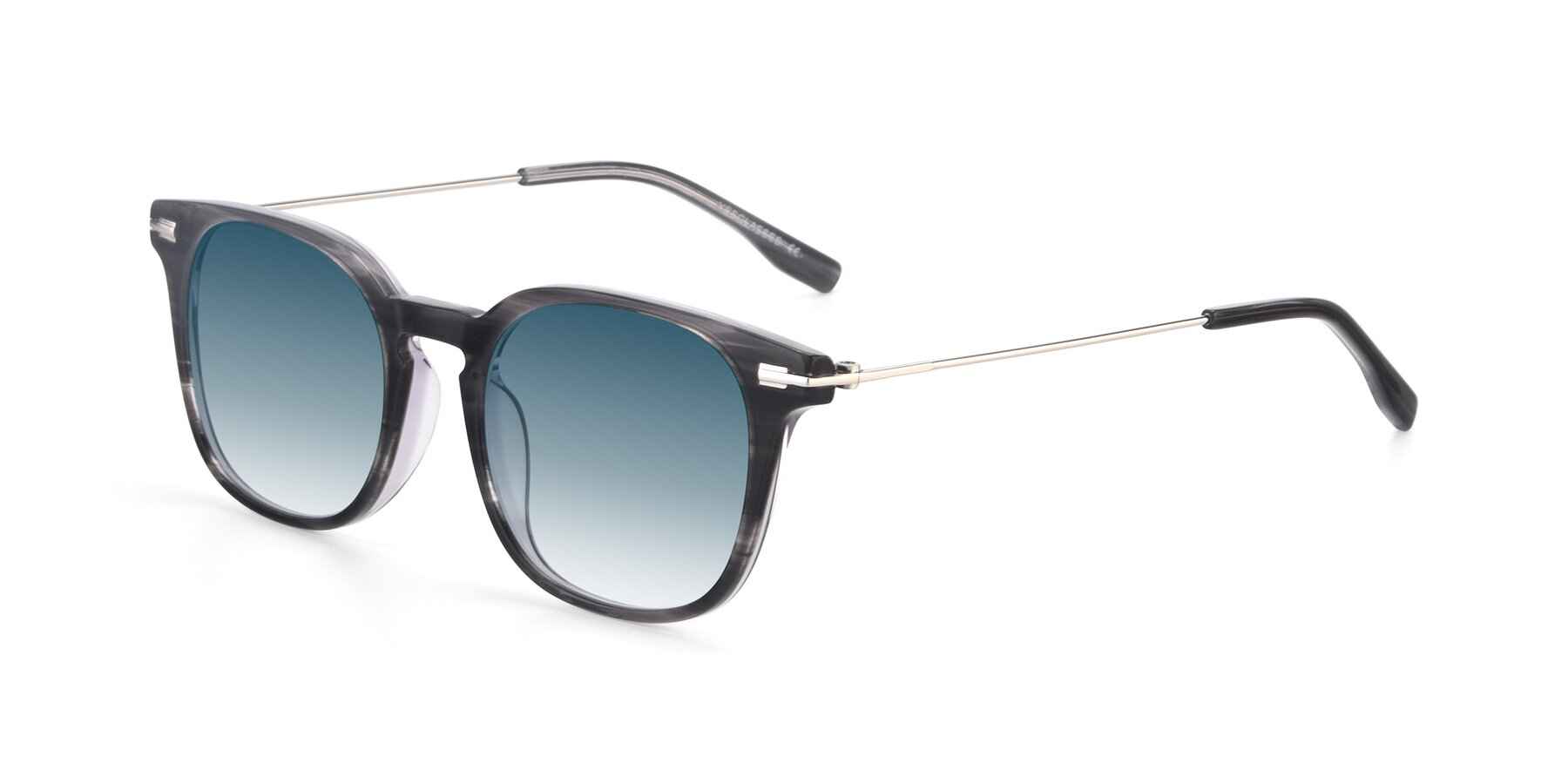 Angle of 17711 in Grey with Blue Gradient Lenses