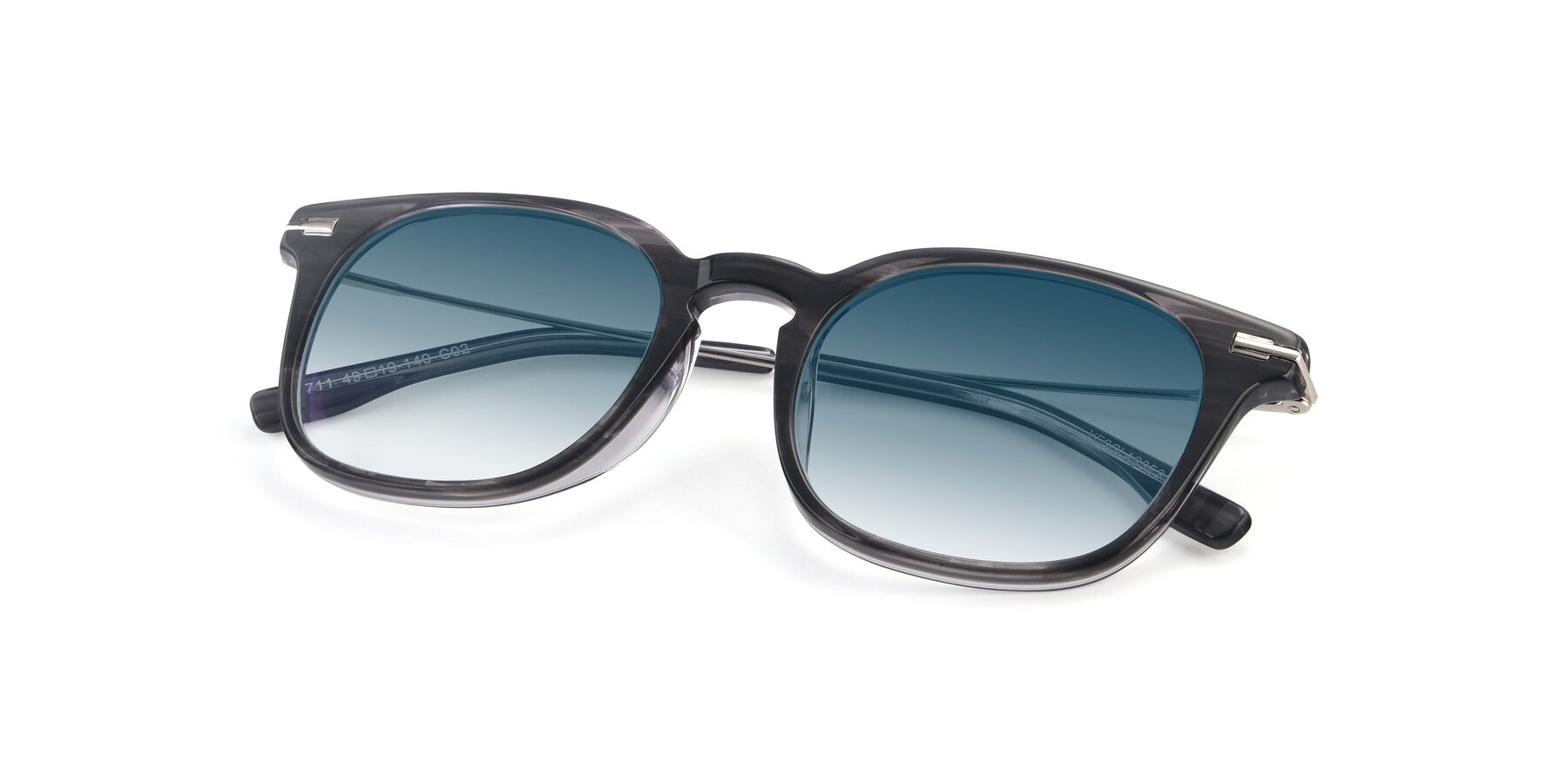 View of 17711 in Grey with Blue Gradient Lenses
