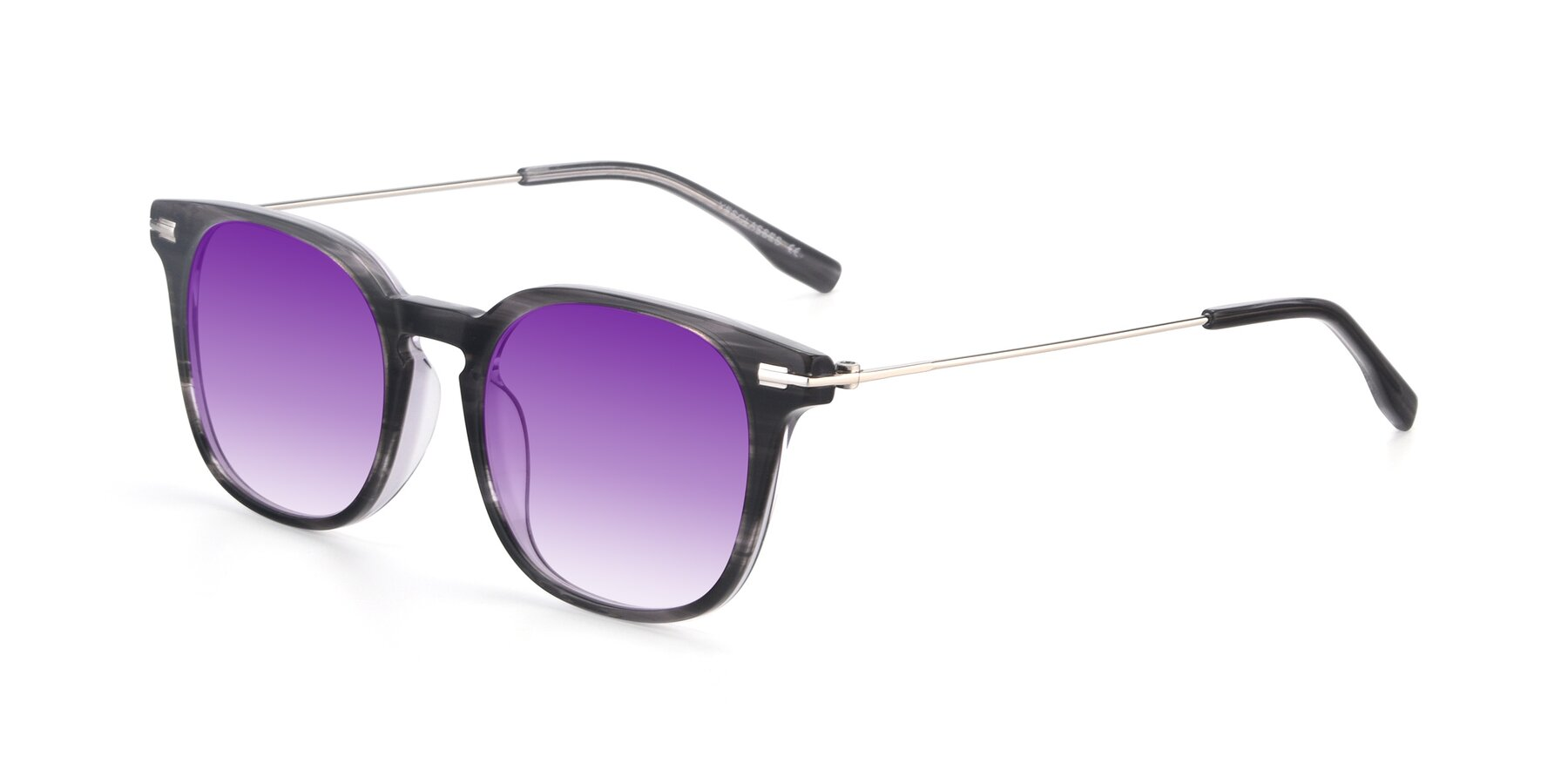 Angle of 17711 in Grey with Purple Gradient Lenses