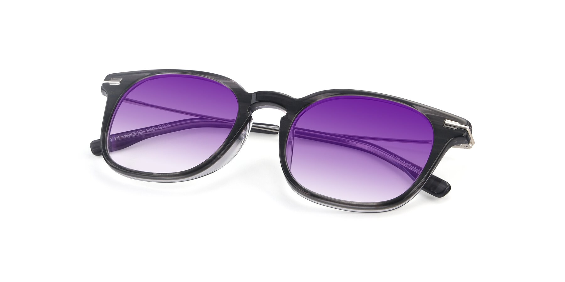 View of 17711 in Grey with Purple Gradient Lenses