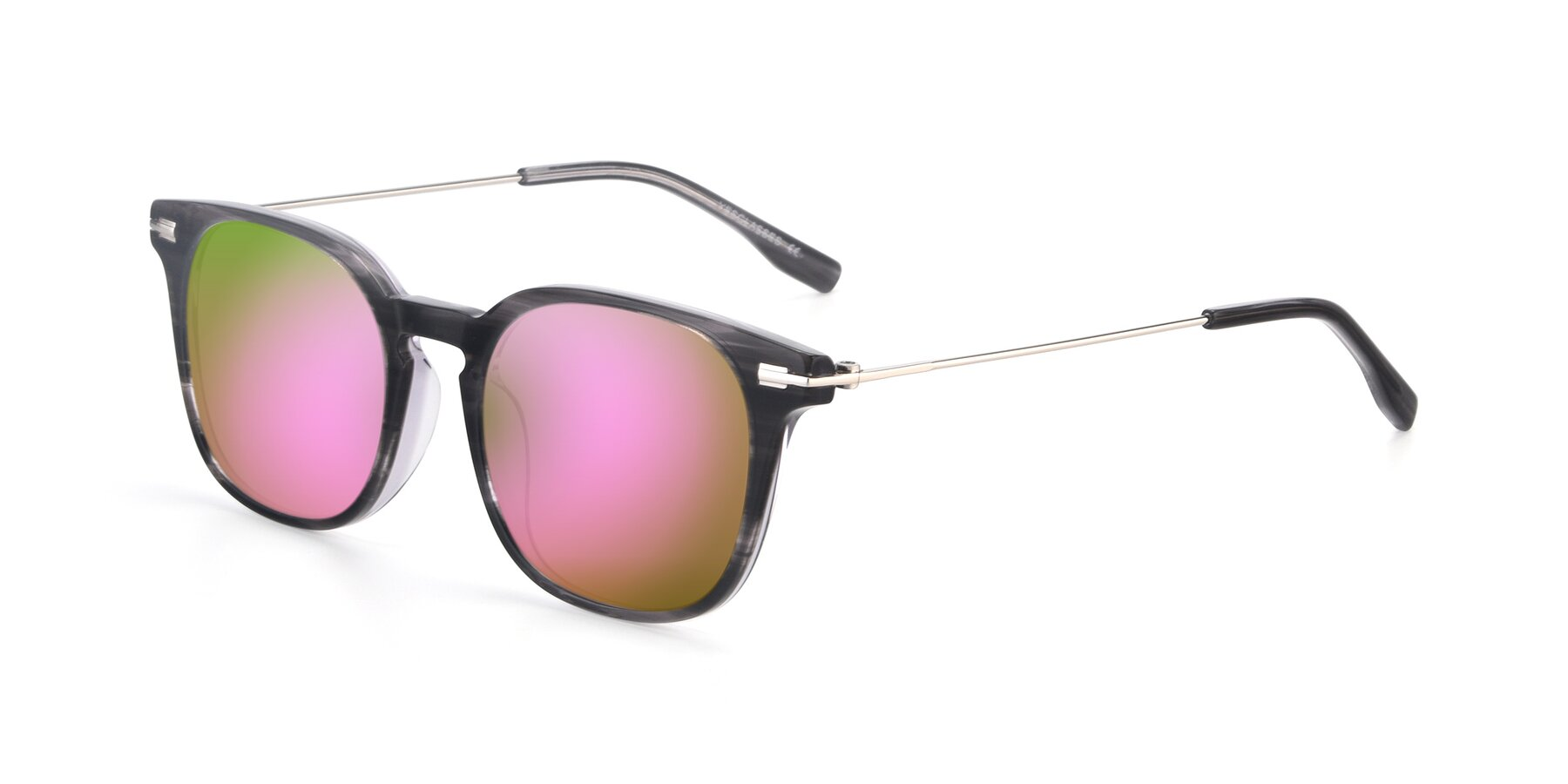Angle of 17711 in Grey with Pink Mirrored Lenses