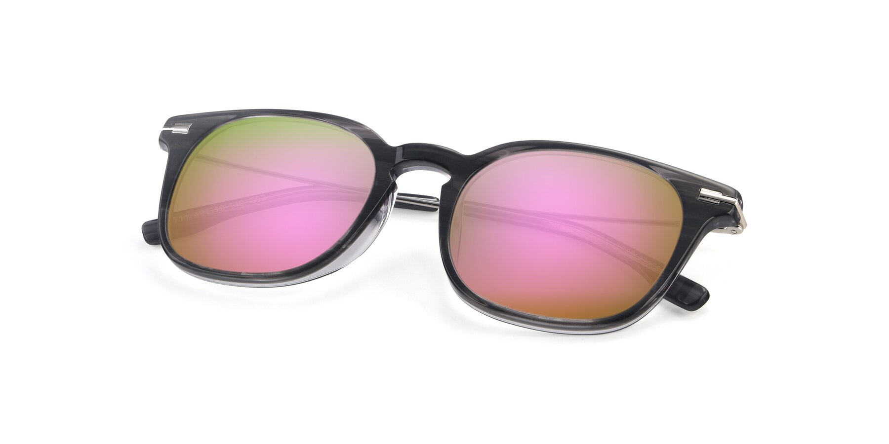 View of 17711 in Grey with Pink Mirrored Lenses