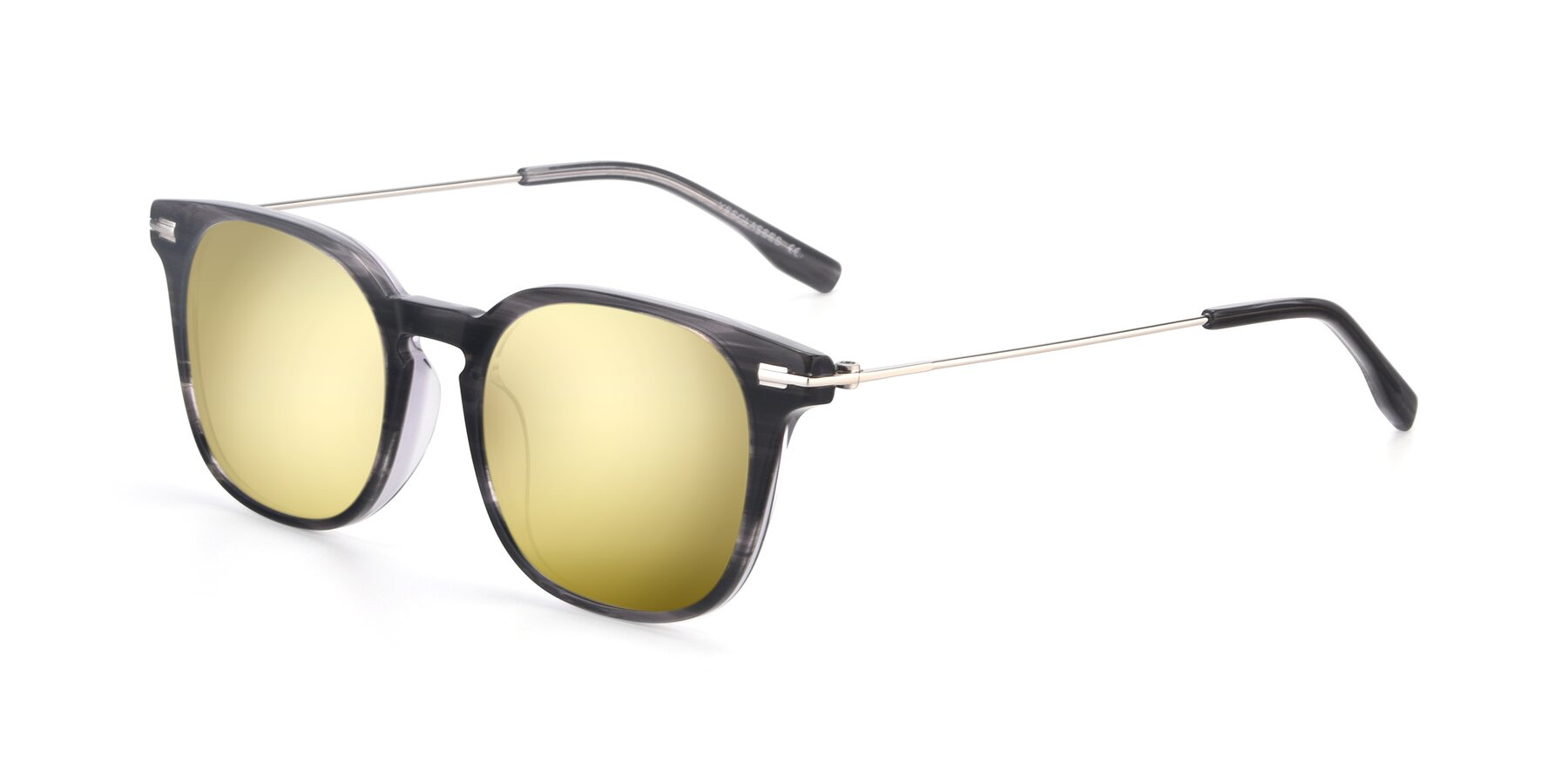 Angle of 17711 in Grey with Gold Mirrored Lenses