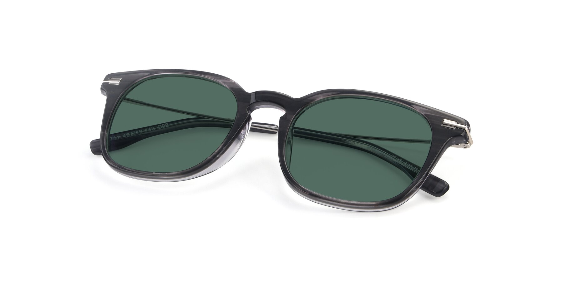 View of 17711 in Grey with Green Polarized Lenses