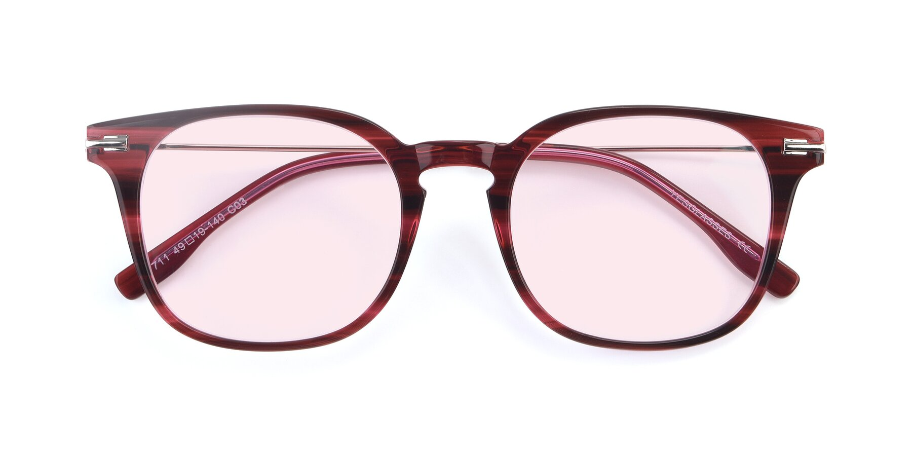 Folded Front of 17711 in Wine with Light Pink Tinted Lenses