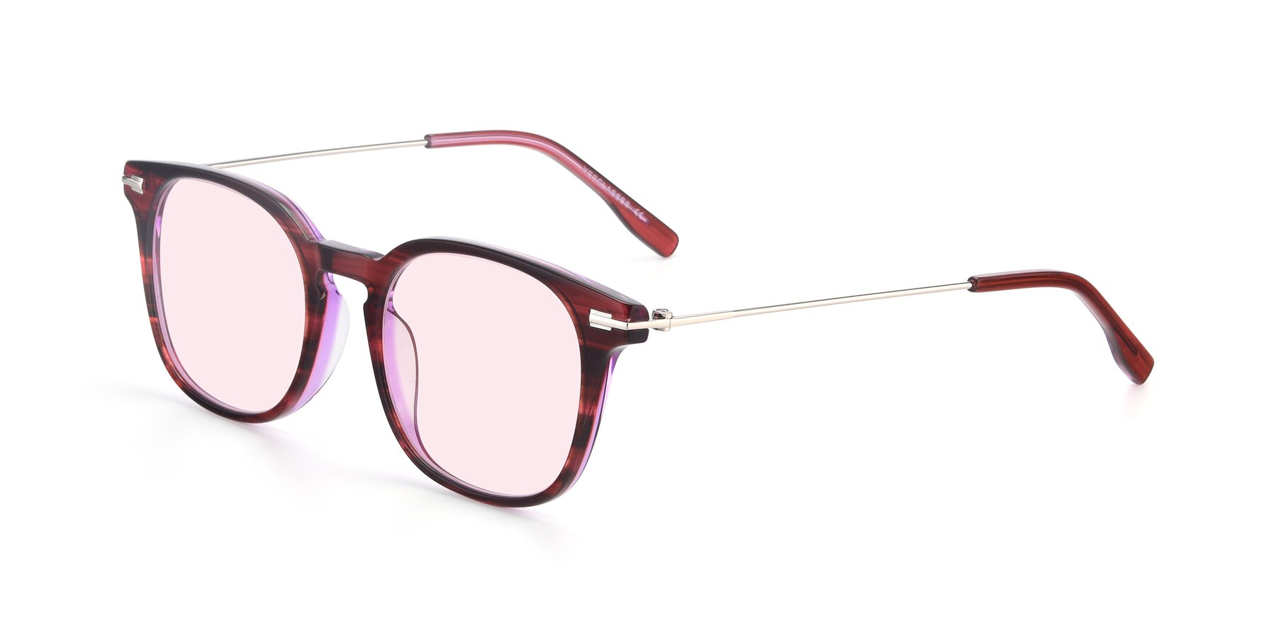Angle of 17711 in Wine with Light Pink Tinted Lenses