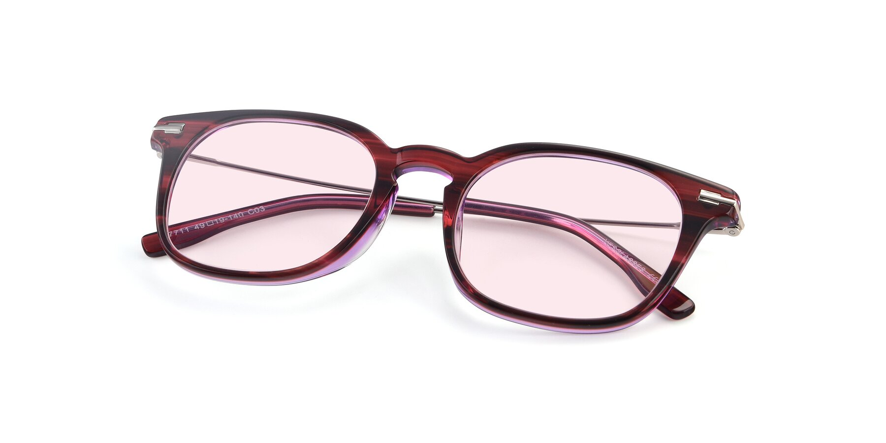 View of 17711 in Wine with Light Pink Tinted Lenses