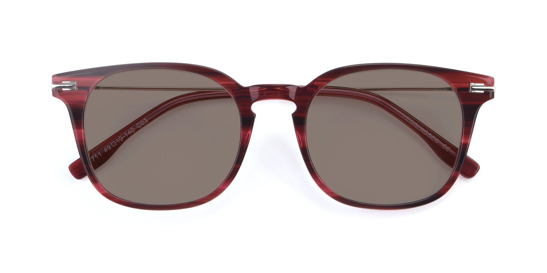 Folded Front of 17711 in Wine with Medium Brown Tinted Lenses