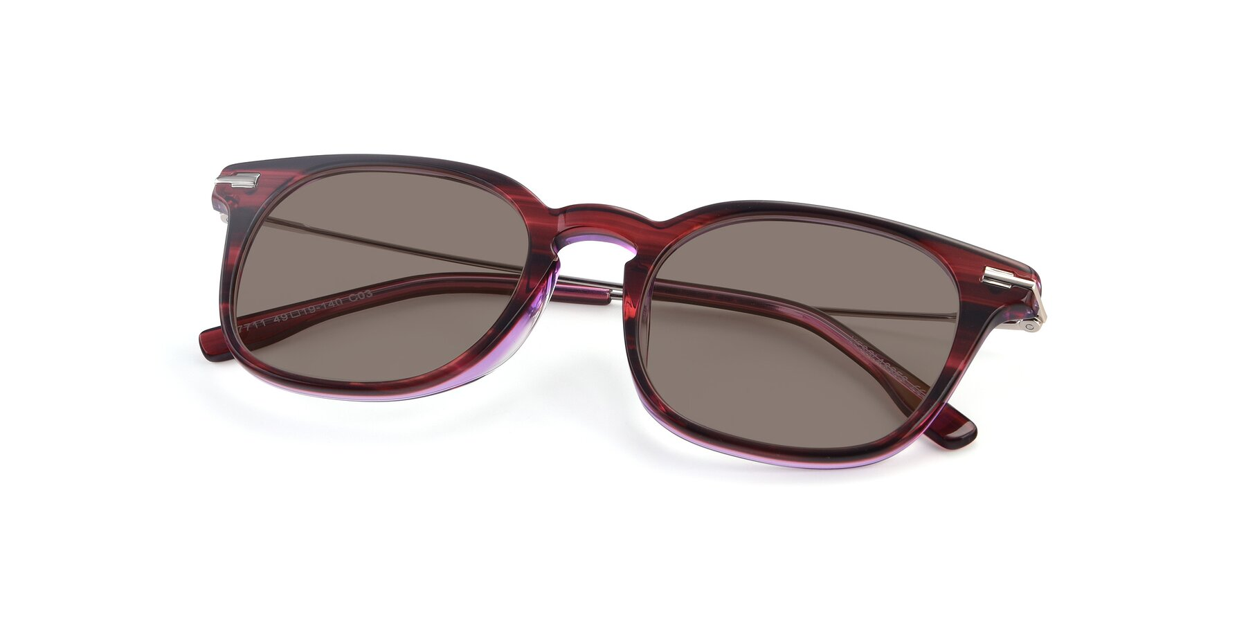 View of 17711 in Wine with Medium Brown Tinted Lenses