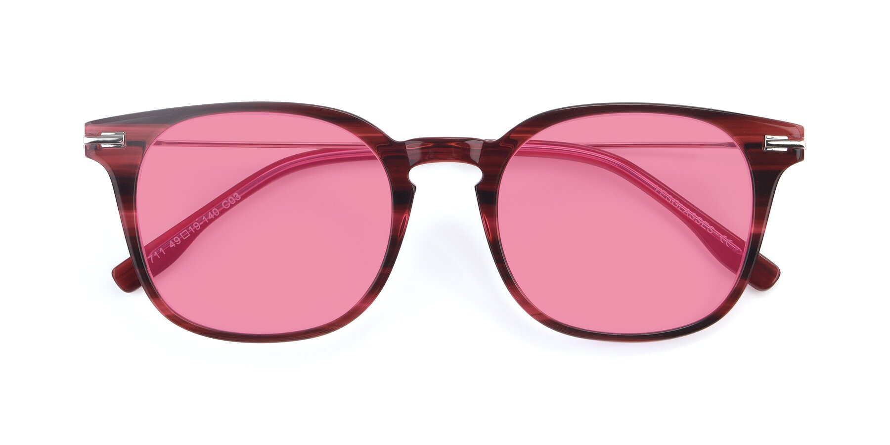 Folded Front of 17711 in Wine with Pink Tinted Lenses