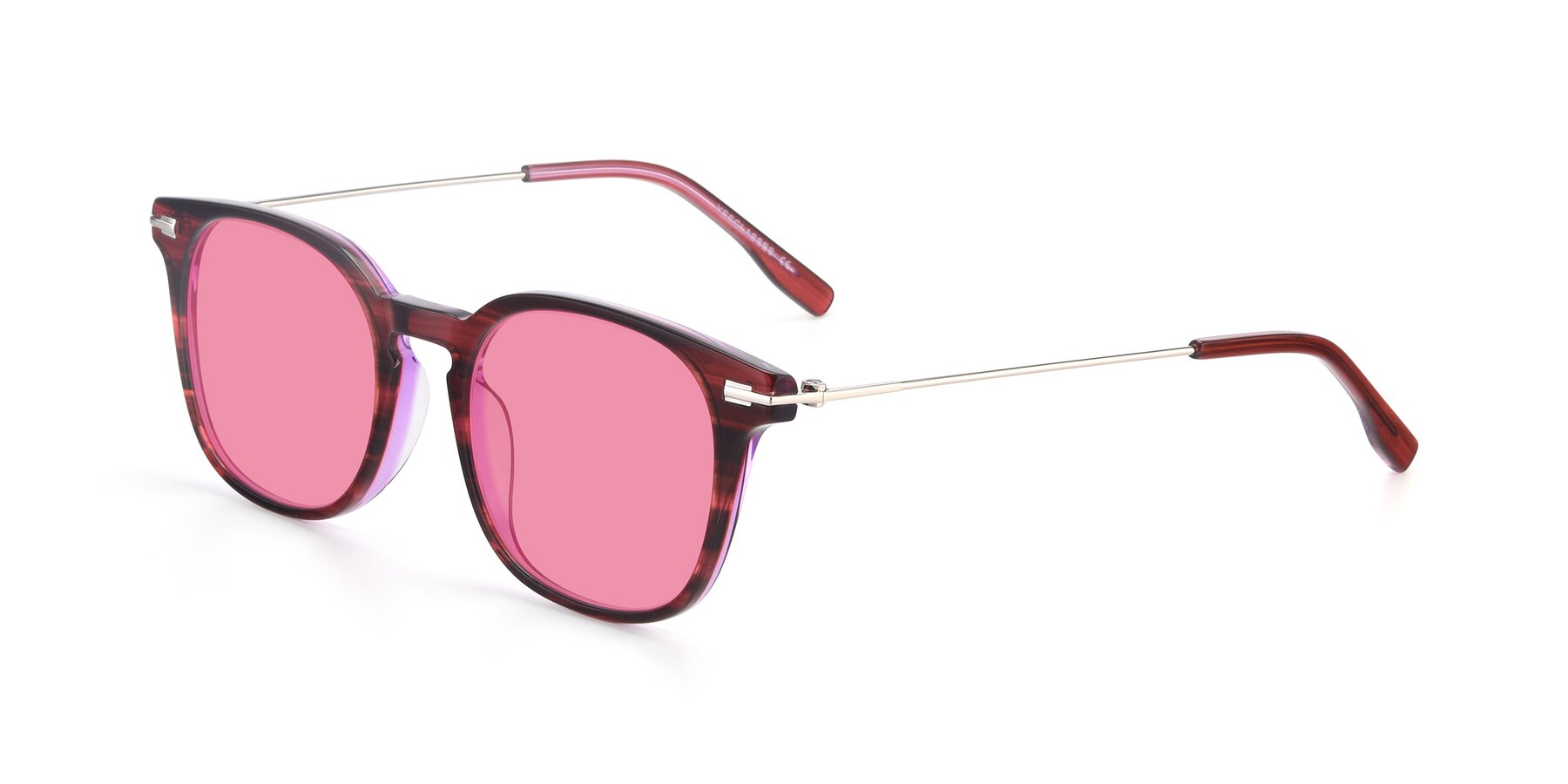 Angle of 17711 in Wine with Pink Tinted Lenses