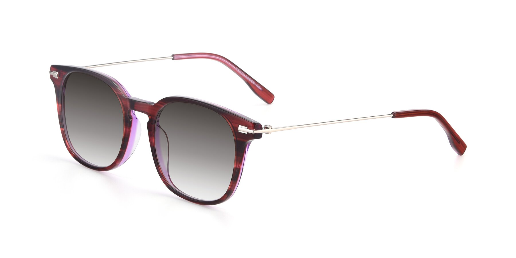 Angle of 17711 in Wine with Gray Gradient Lenses