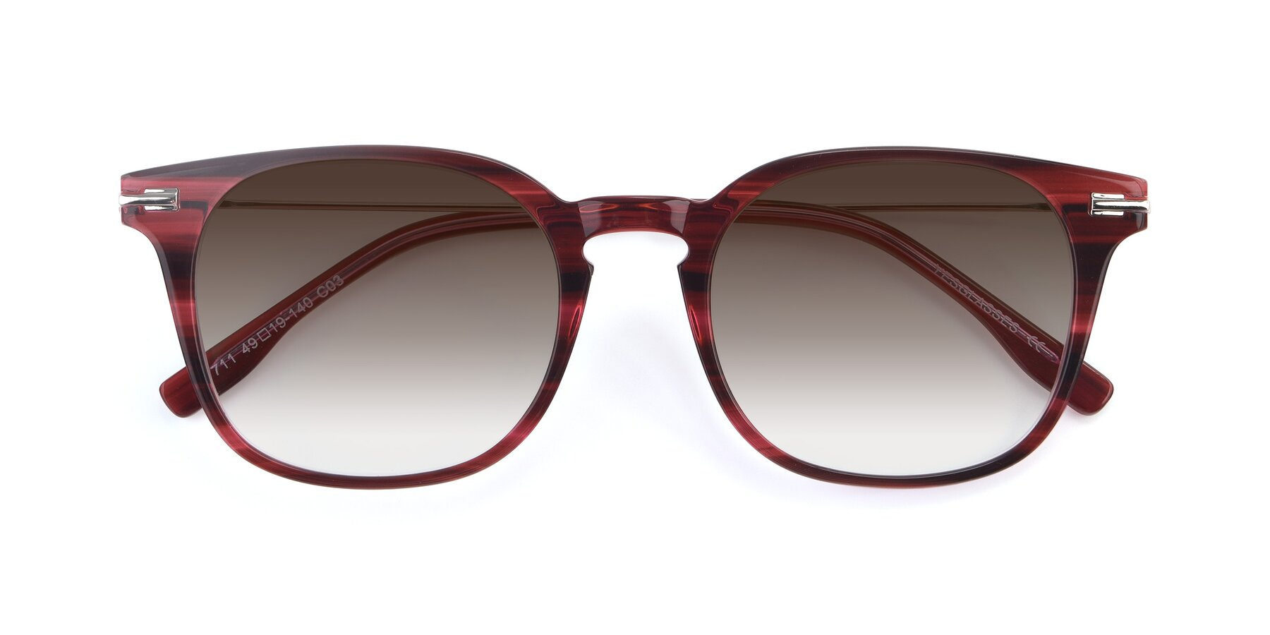 Folded Front of 17711 in Wine with Brown Gradient Lenses