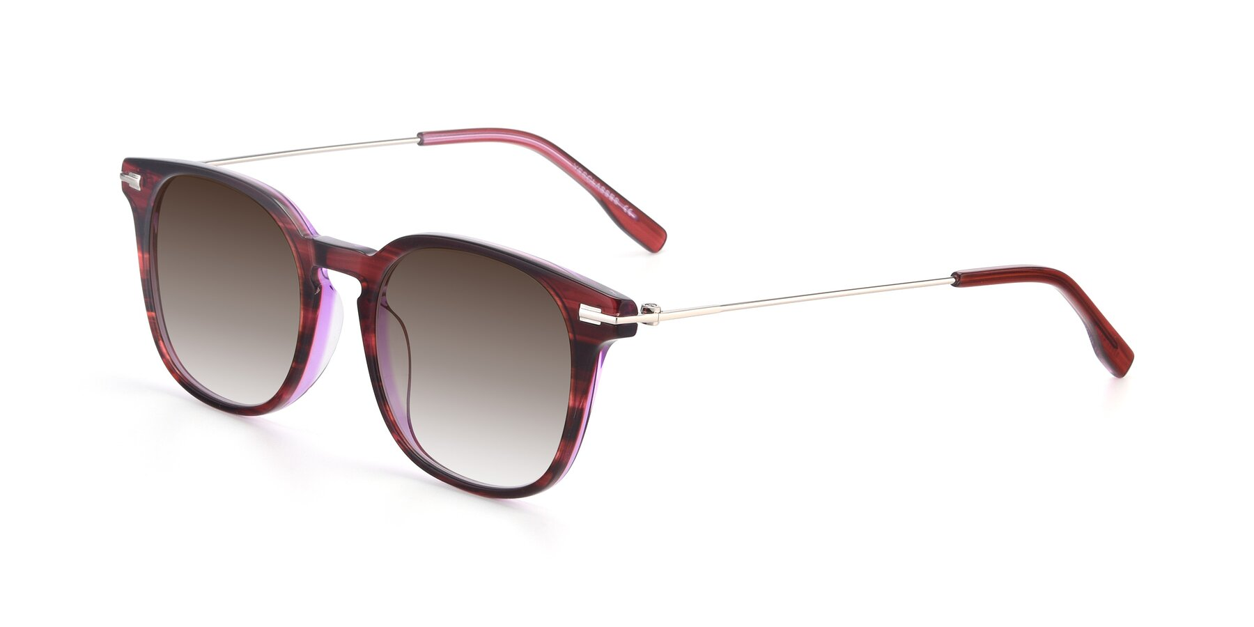 Angle of 17711 in Wine with Brown Gradient Lenses