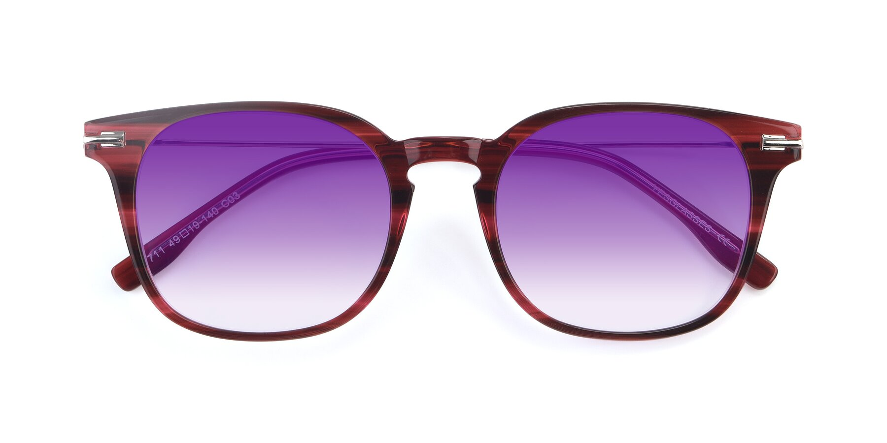 Folded Front of 17711 in Wine with Purple Gradient Lenses