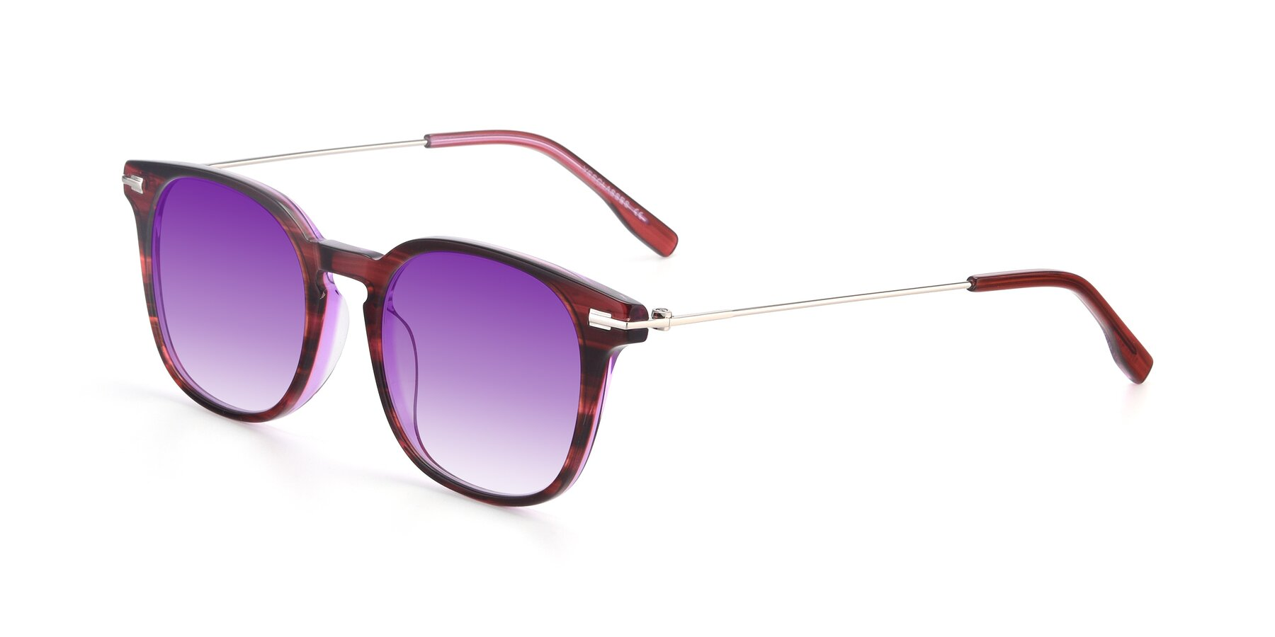 Angle of 17711 in Wine with Purple Gradient Lenses