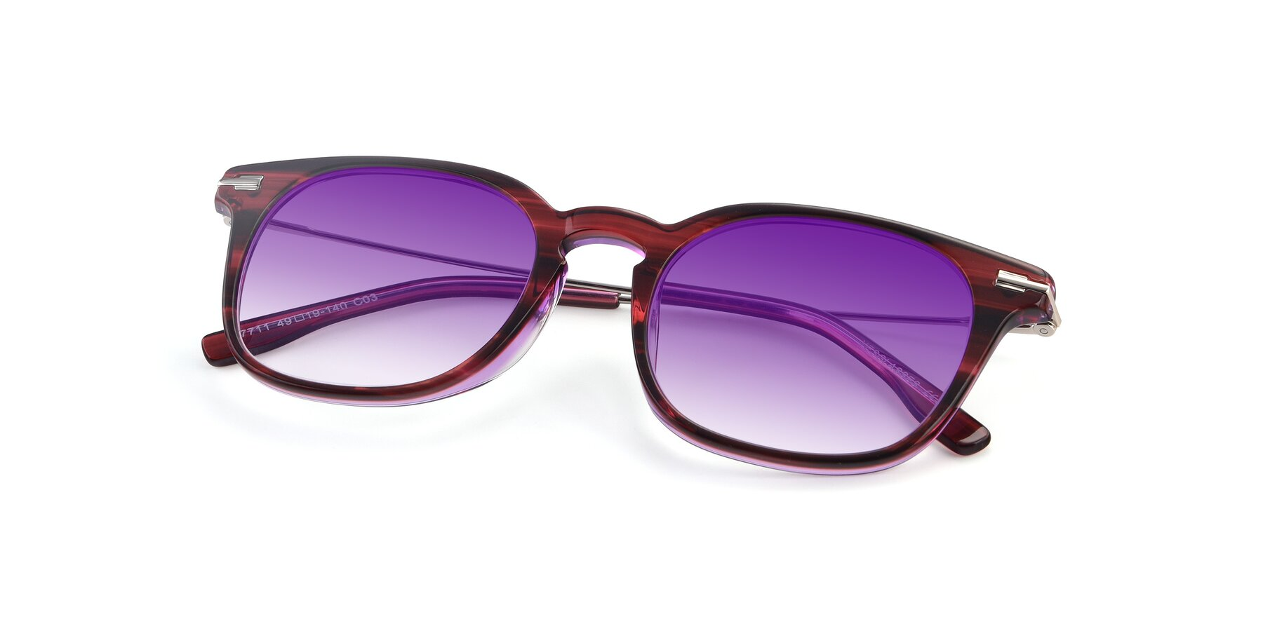 View of 17711 in Wine with Purple Gradient Lenses