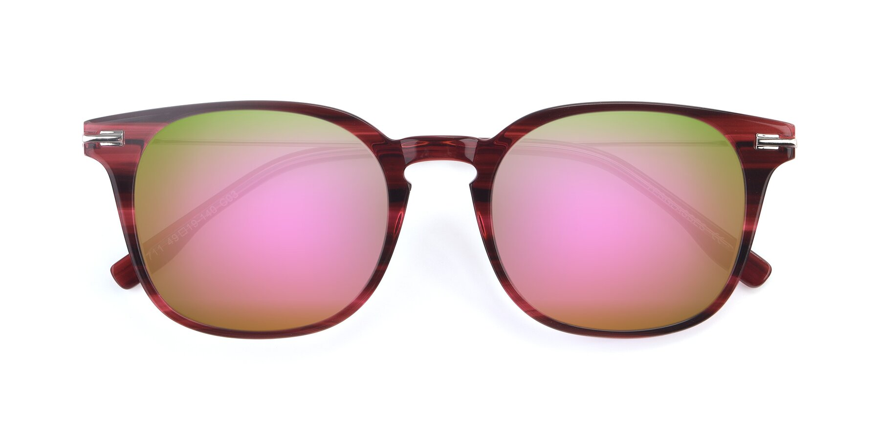Folded Front of 17711 in Wine with Pink Mirrored Lenses