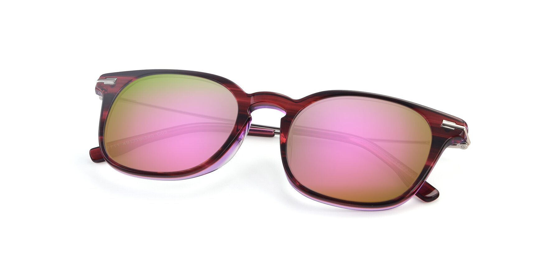 View of 17711 in Wine with Pink Mirrored Lenses