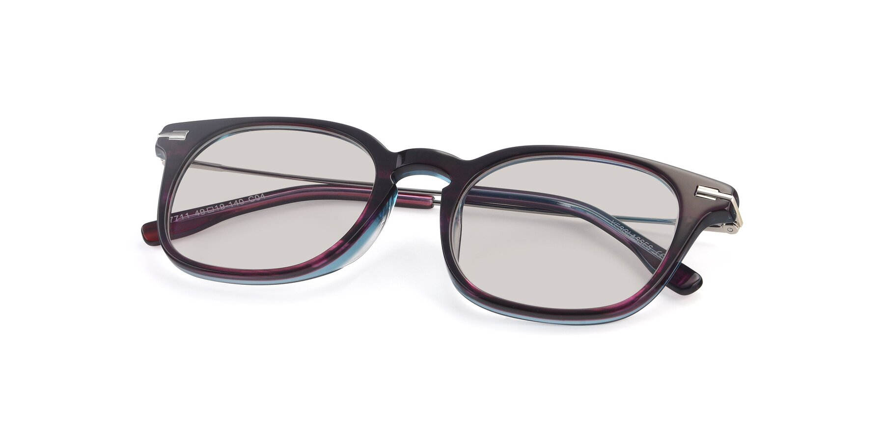 View of 17711 in Dark Purple with Light Brown Tinted Lenses