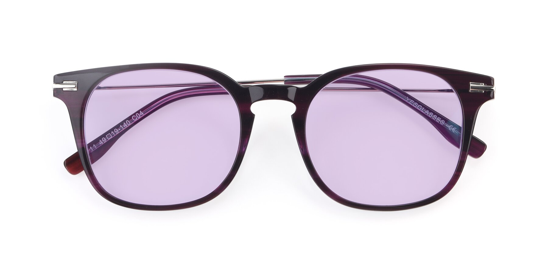 Folded Front of 17711 in Dark Purple with Light Purple Tinted Lenses