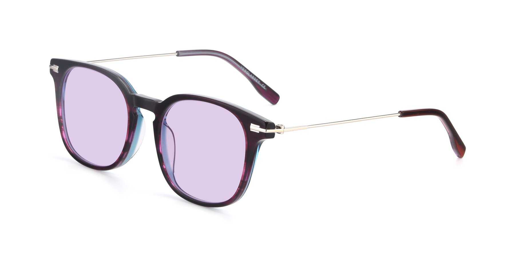 Angle of 17711 in Dark Purple with Light Purple Tinted Lenses