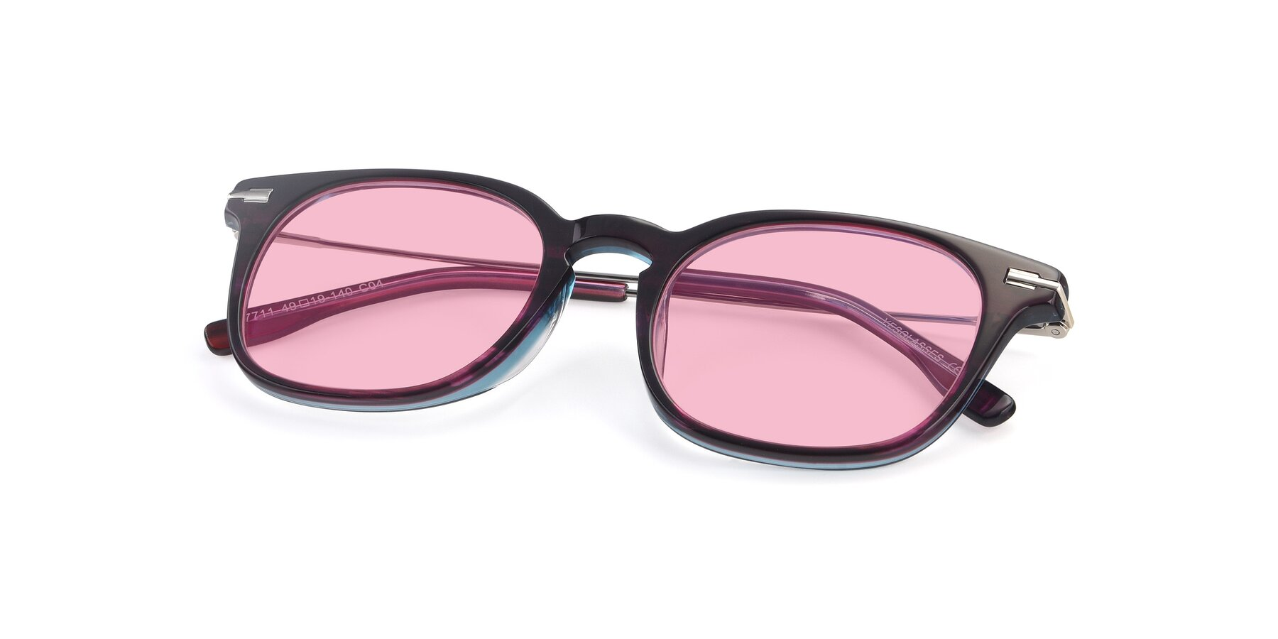 View of 17711 in Dark Purple with Medium Pink Tinted Lenses