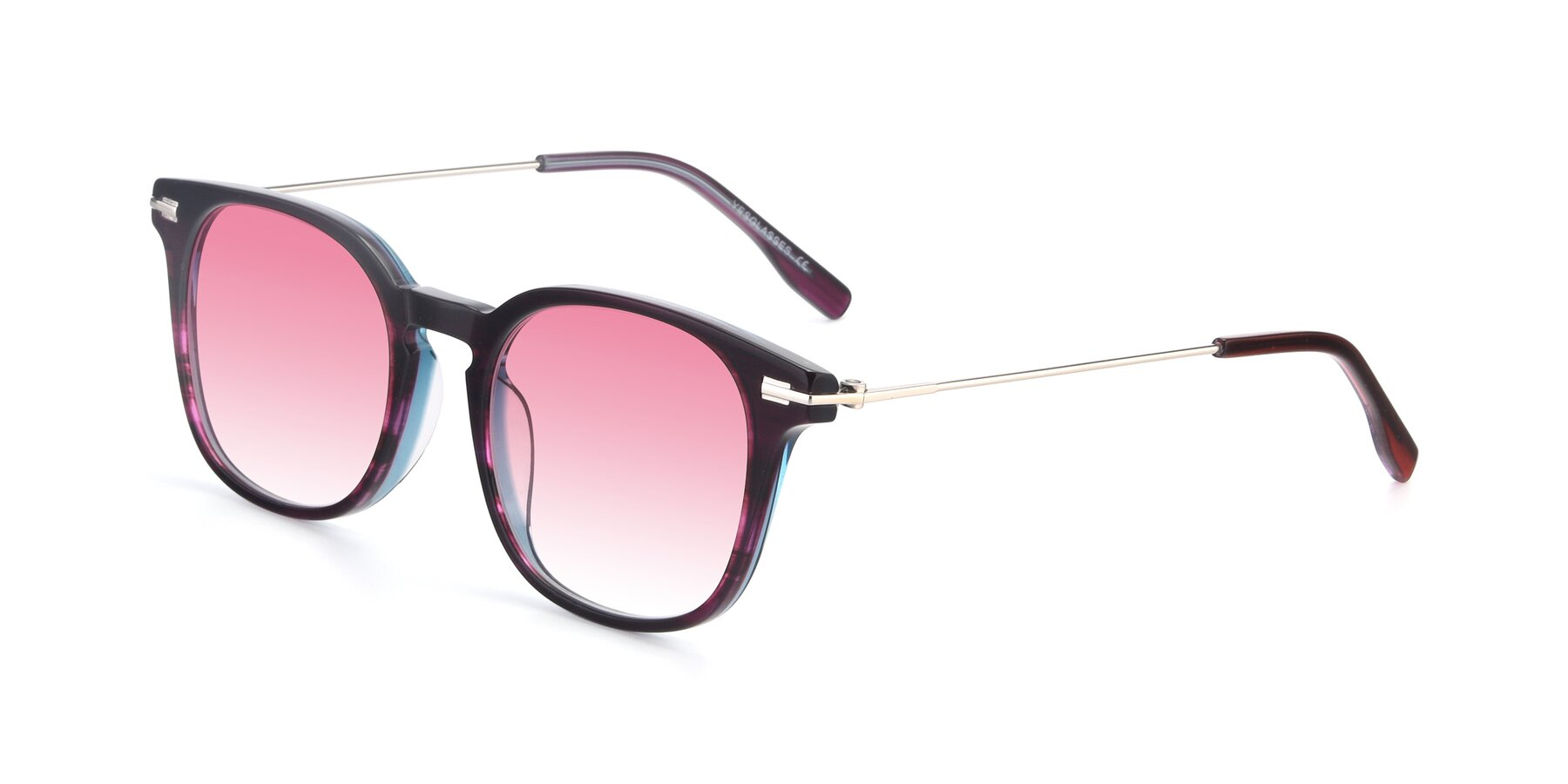 Angle of 17711 in Dark Purple with Pink Gradient Lenses