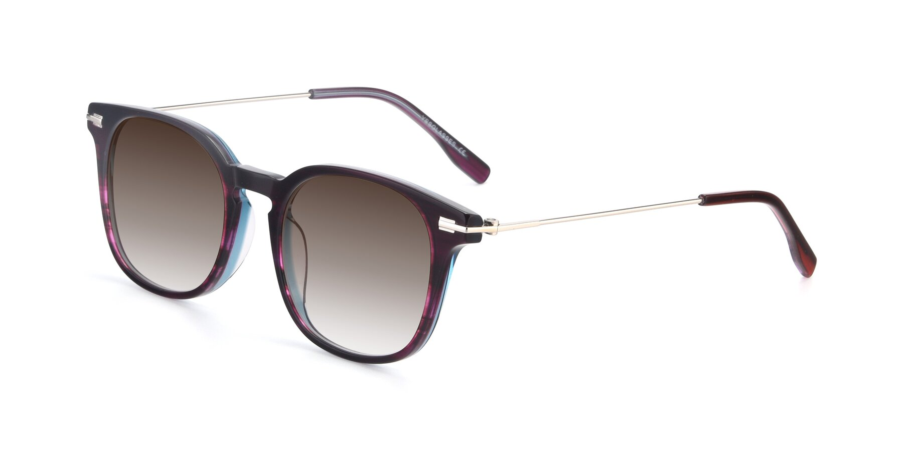Angle of 17711 in Dark Purple with Brown Gradient Lenses