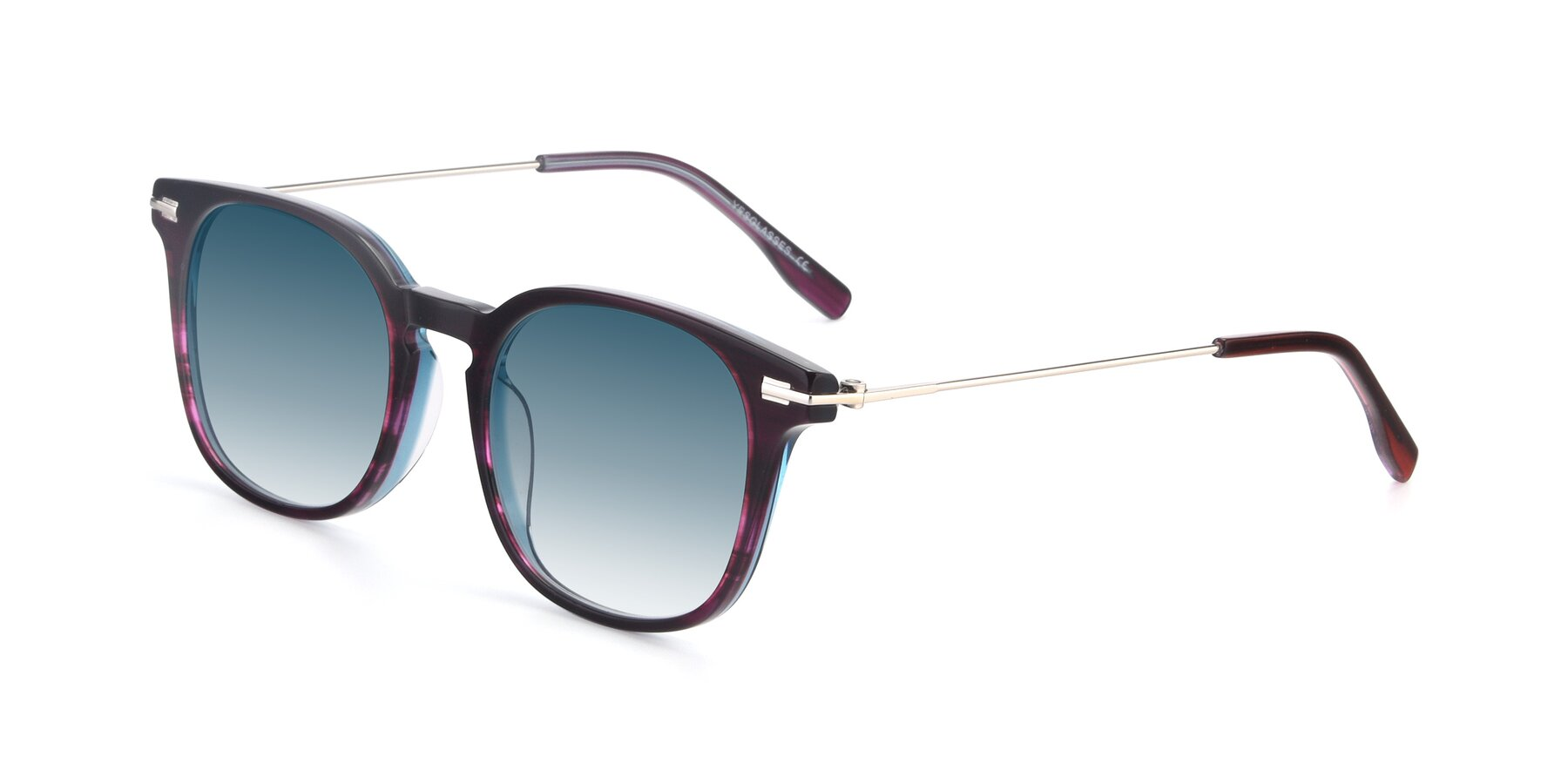 Angle of 17711 in Dark Purple with Blue Gradient Lenses