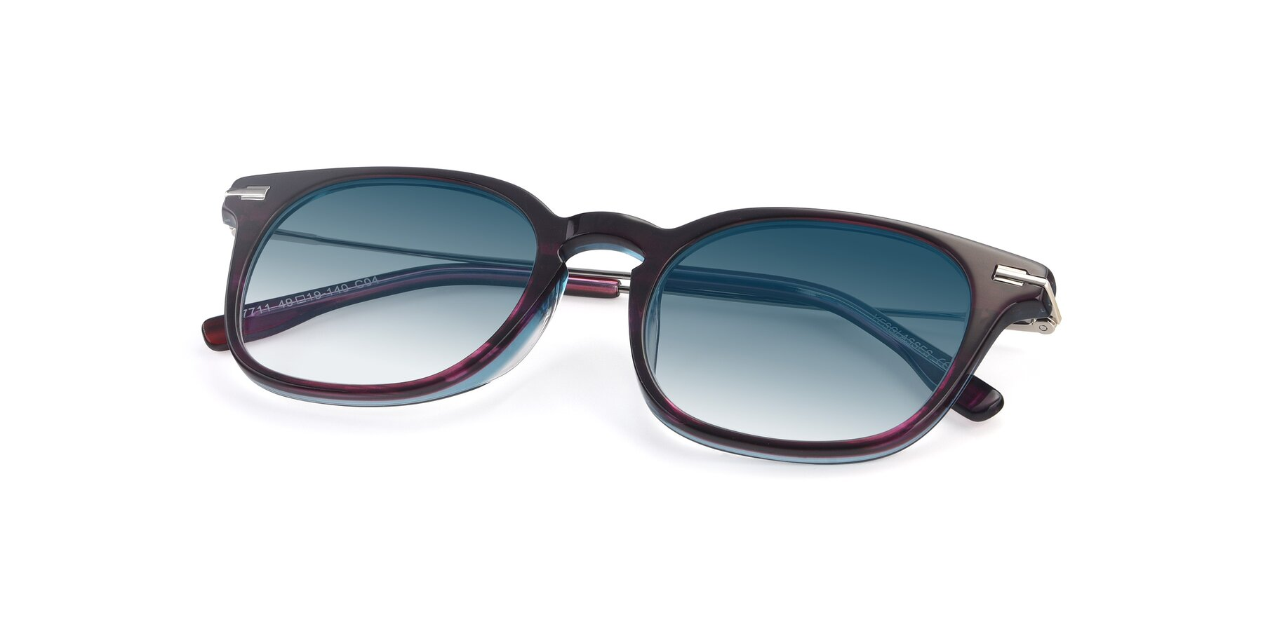 View of 17711 in Dark Purple with Blue Gradient Lenses