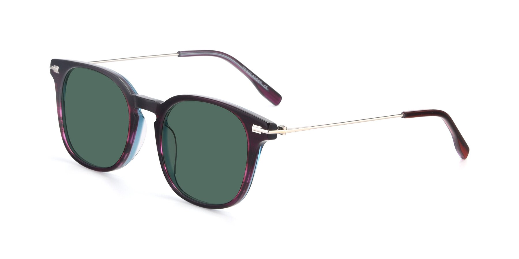 Angle of 17711 in Dark Purple with Green Polarized Lenses