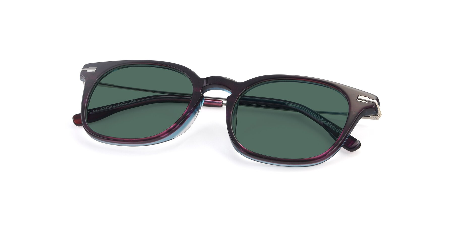 View of 17711 in Dark Purple with Green Polarized Lenses